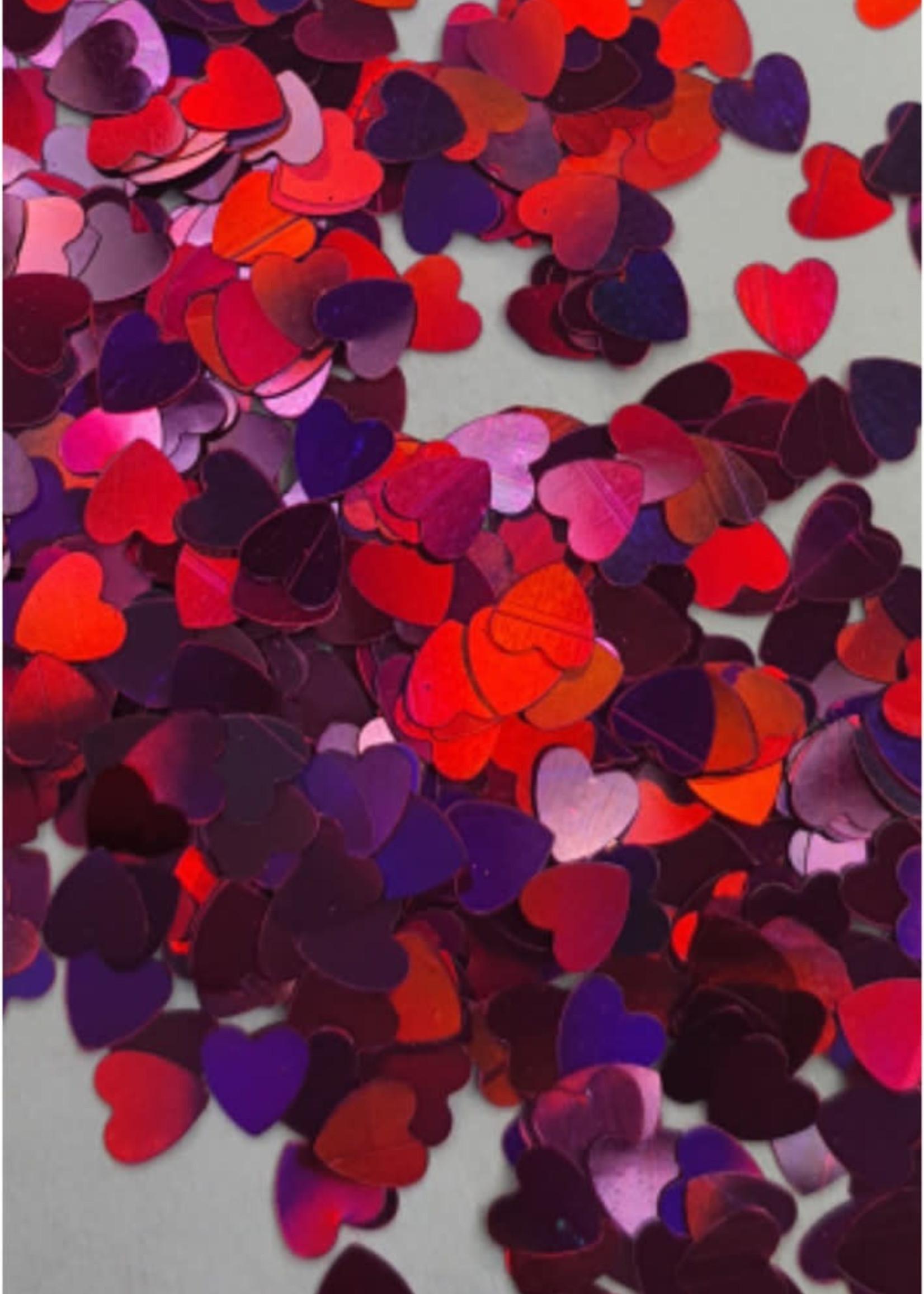 Glitter Queen Pink Lovely Hearts