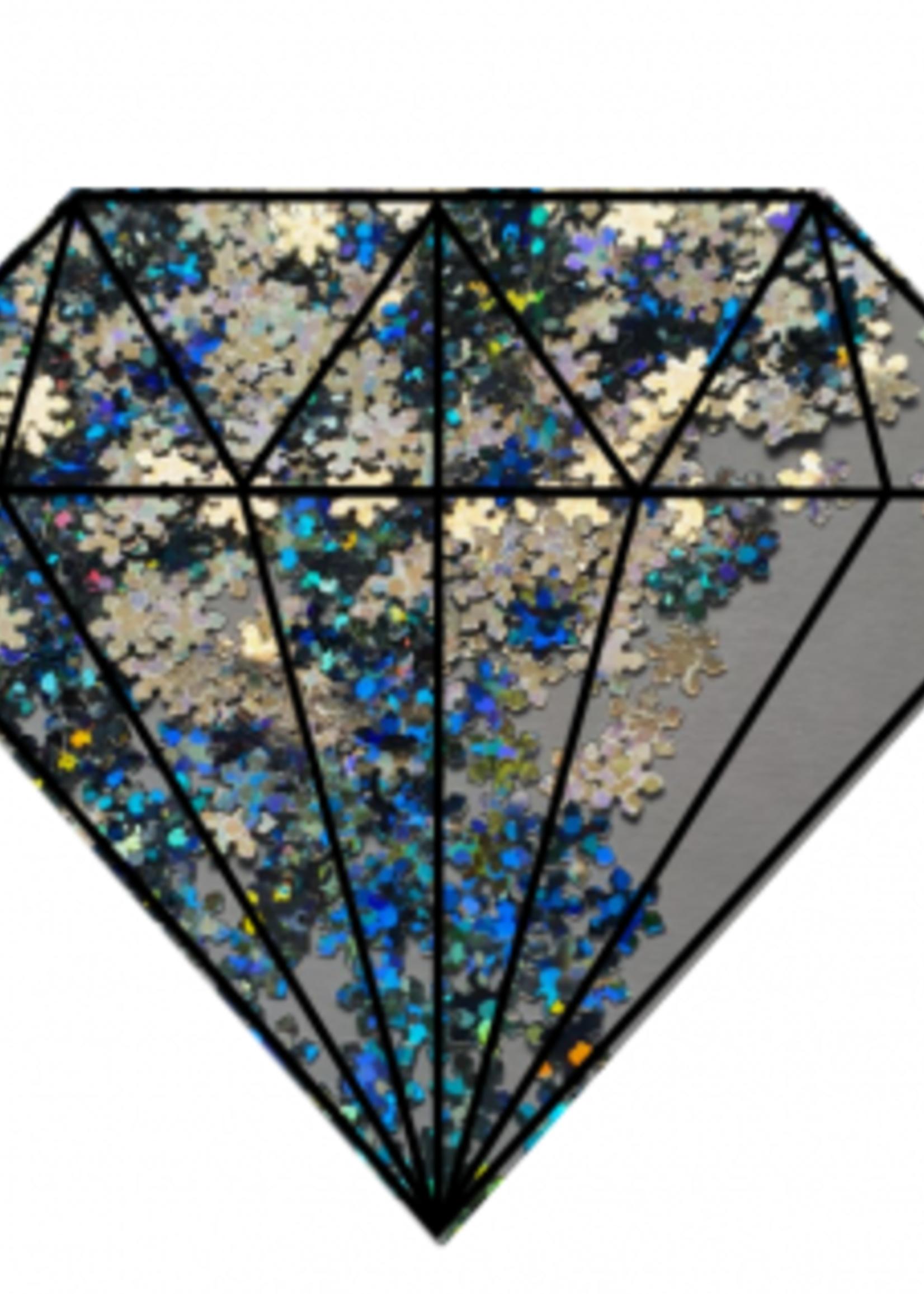 Glitter Queen Silver Stars
