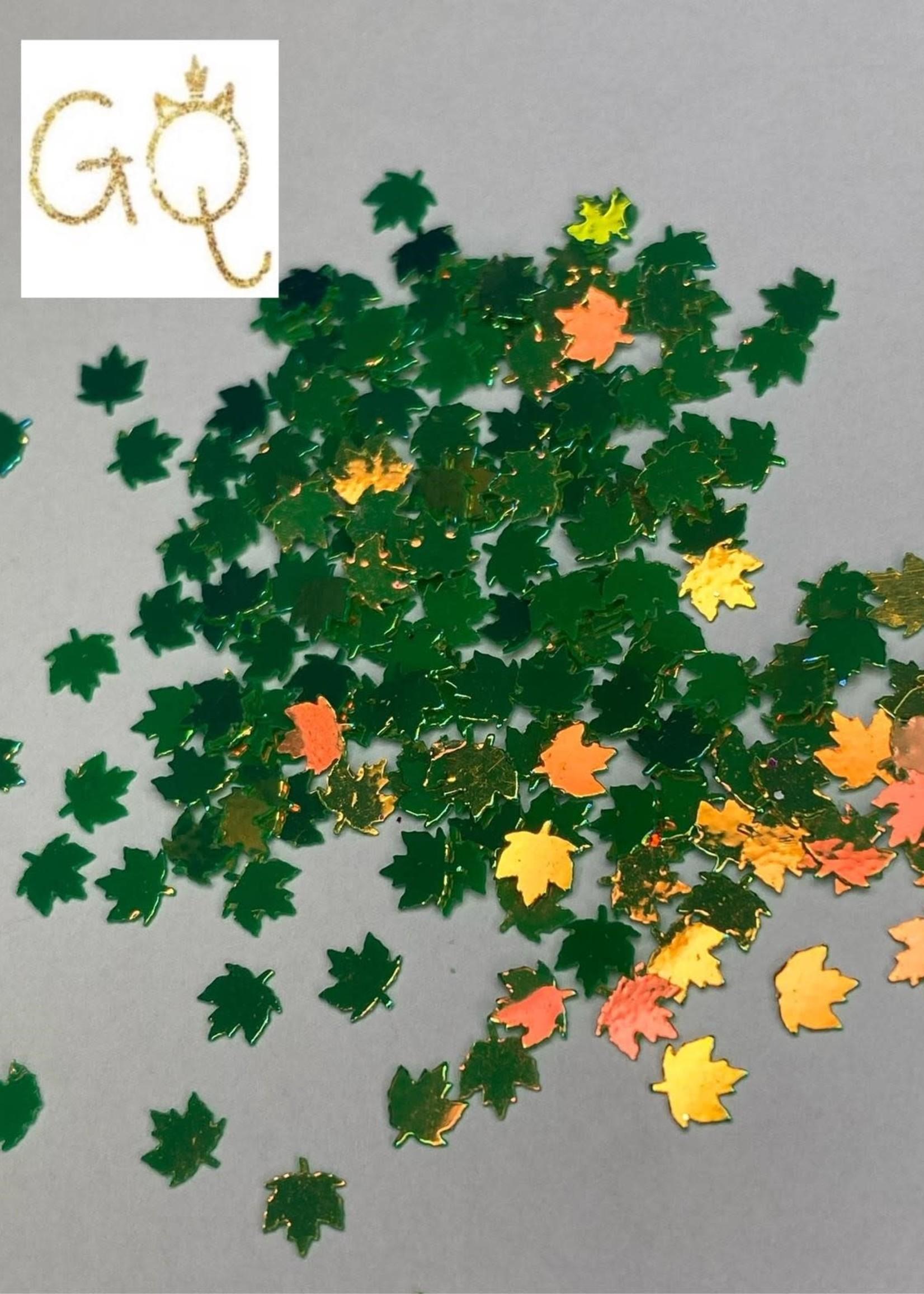 Glitter Queen Green Leaves