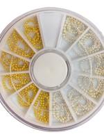 Inlay ketting pareltjes zilver en goud