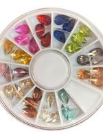 Caja de diamantes de gota 12 colores diferentes