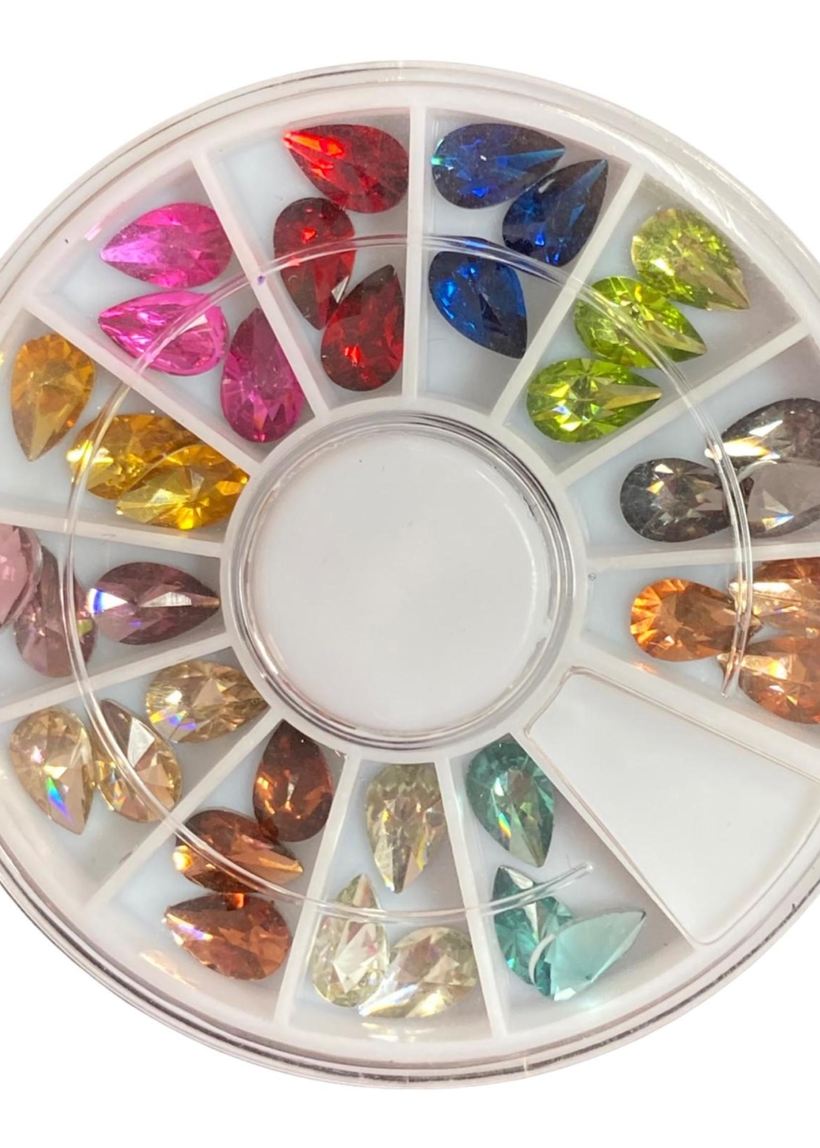 Diamandjes box 12 verschillende kleuren
