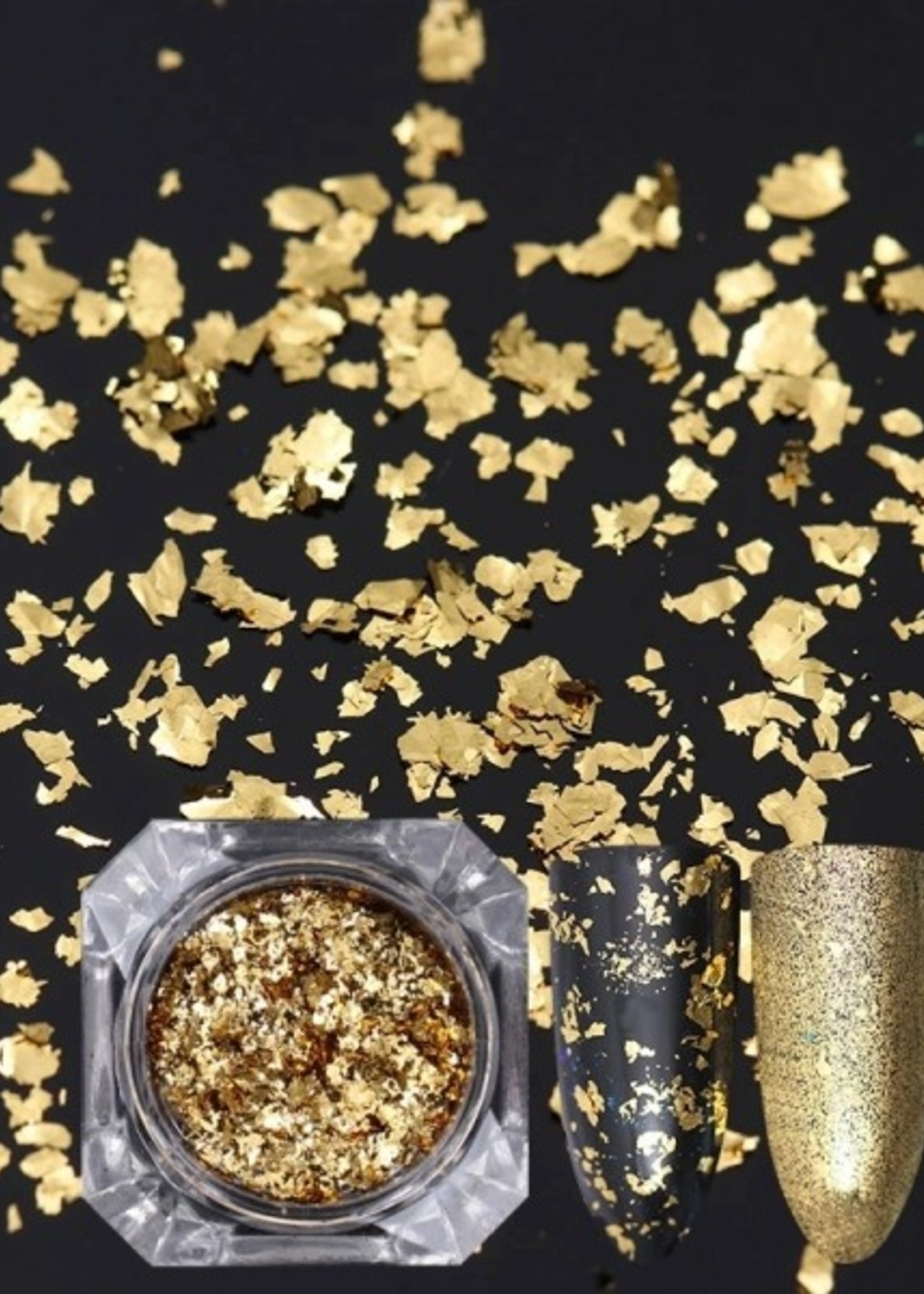 Glitter Queen 24 karat gold flakes
