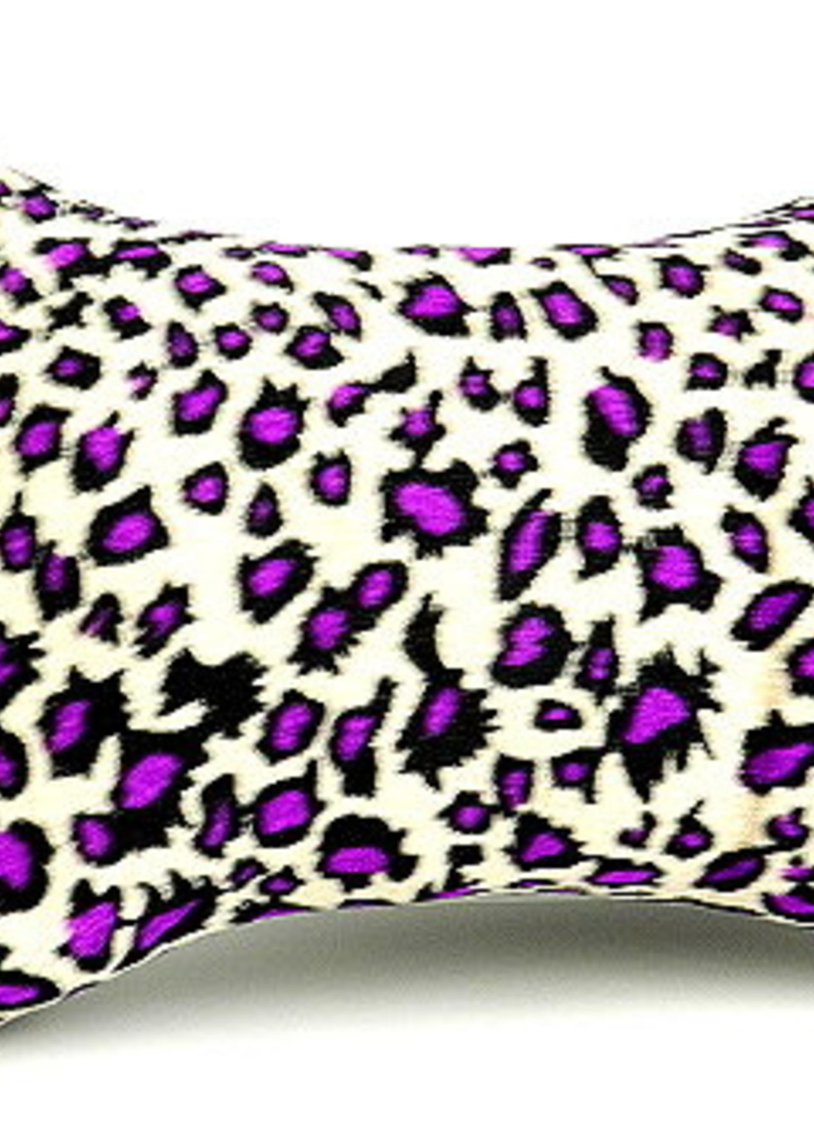 Armrest leopard purple