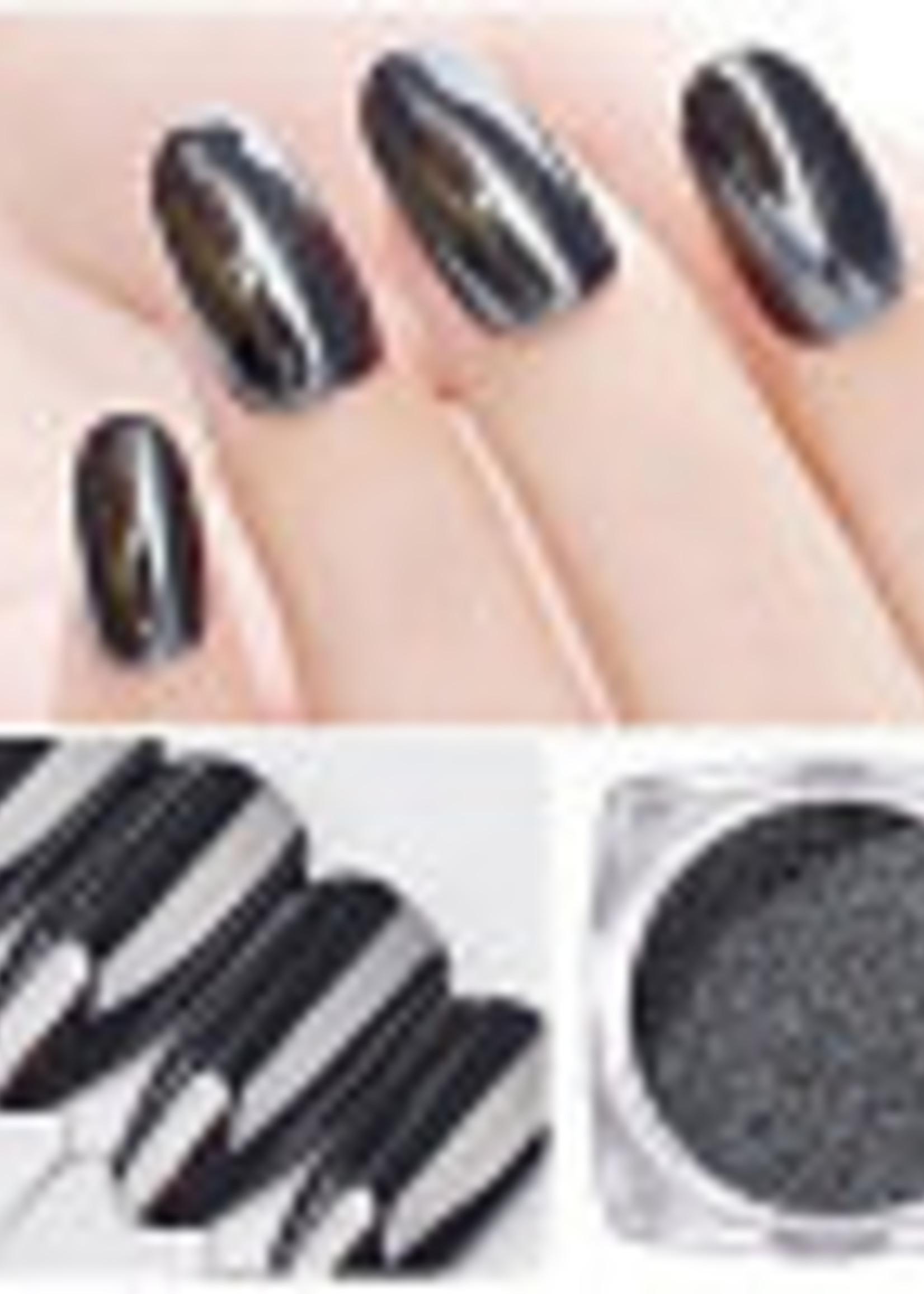 Glitter Queen Chrome Black