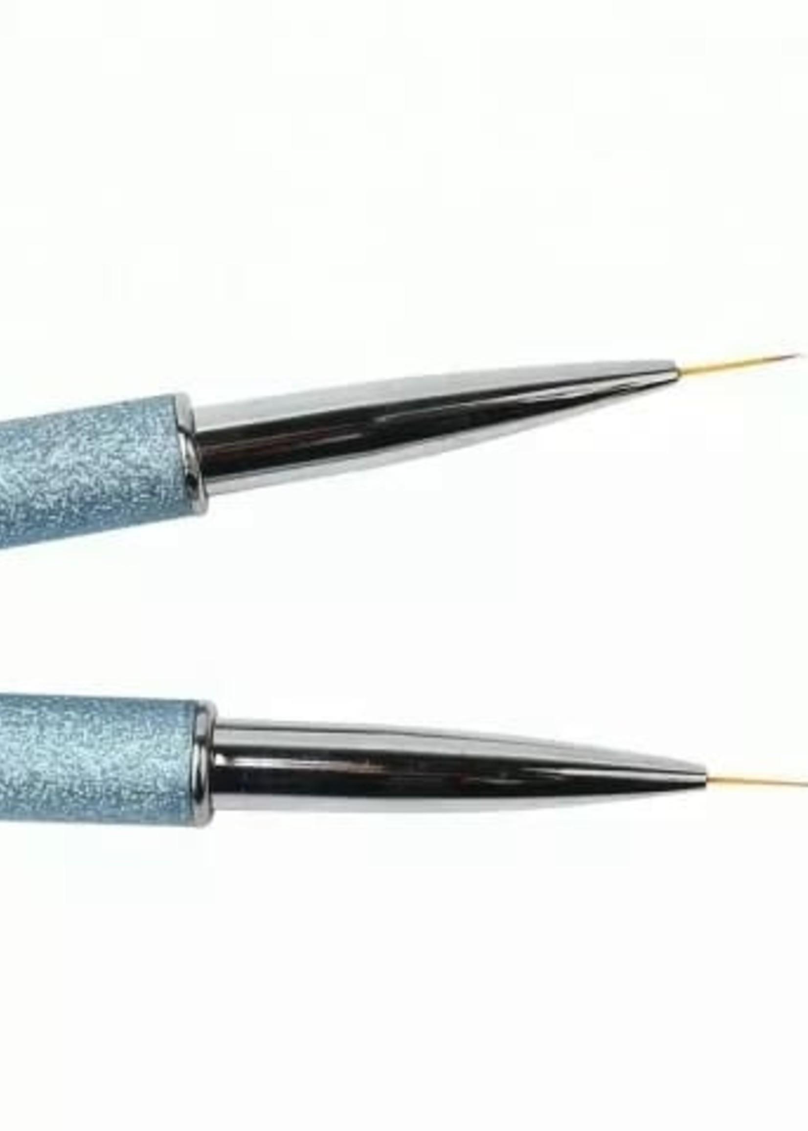 Set de pinceles para uñas 3 piezas