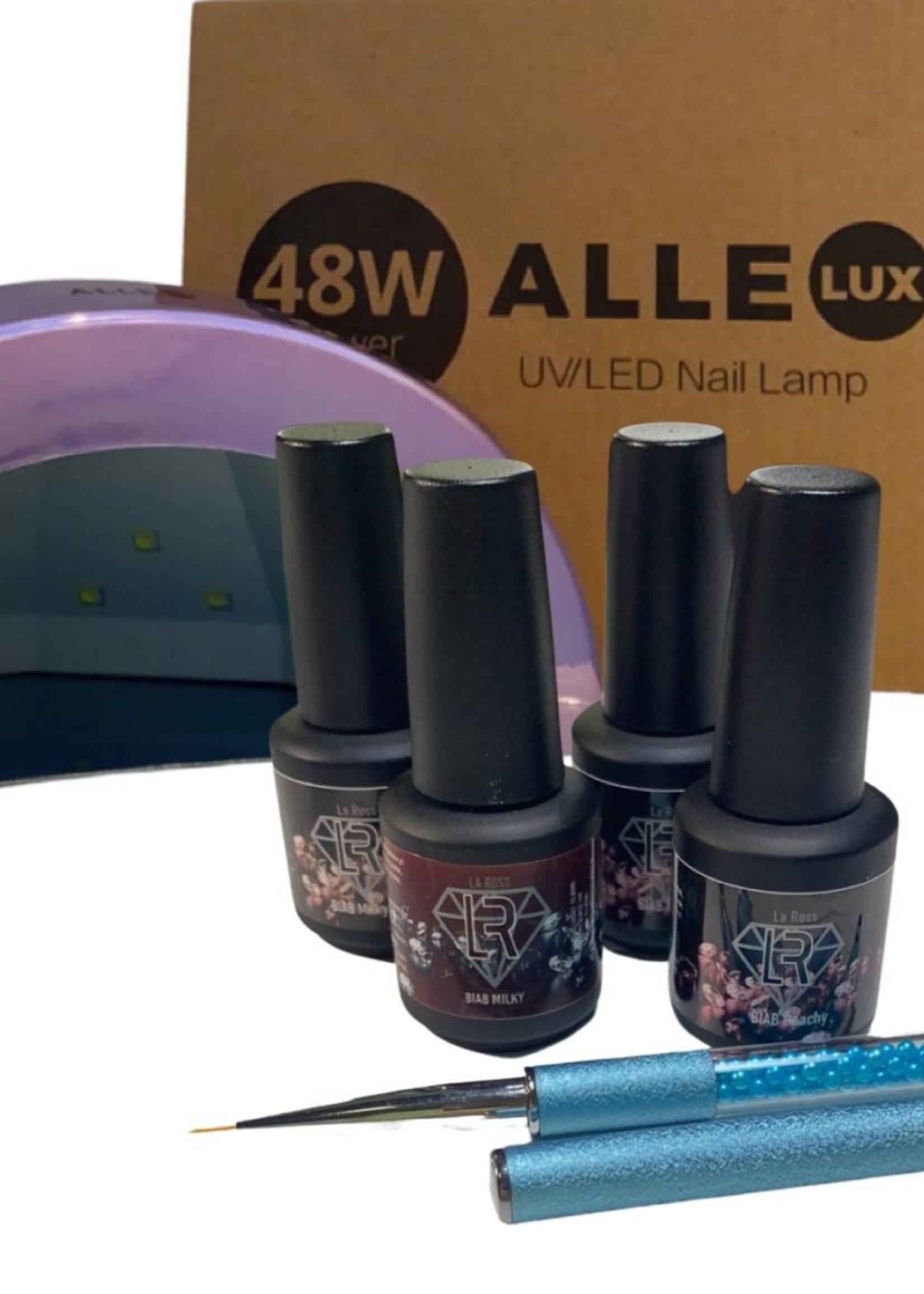 La  Ross BIAB Pakket - 4 kleuren incl. lamp