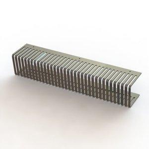 Geplooide Duwkam 12,5mm