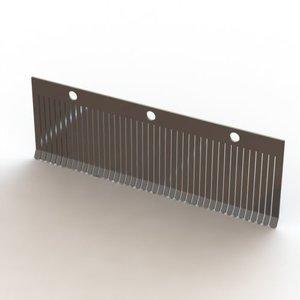 La plaque de pression PANO 45 10mm en acier inoxydable