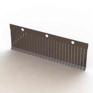 La plaque de pression PANO 45 16mm en acier inoxydable