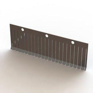 La plaque de pression PANO 45 20mm en acier inoxydable