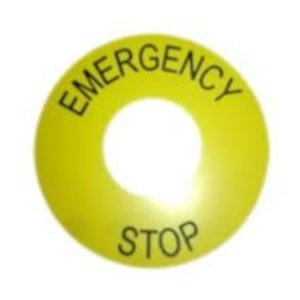 Emergency label (ring emergency stop)