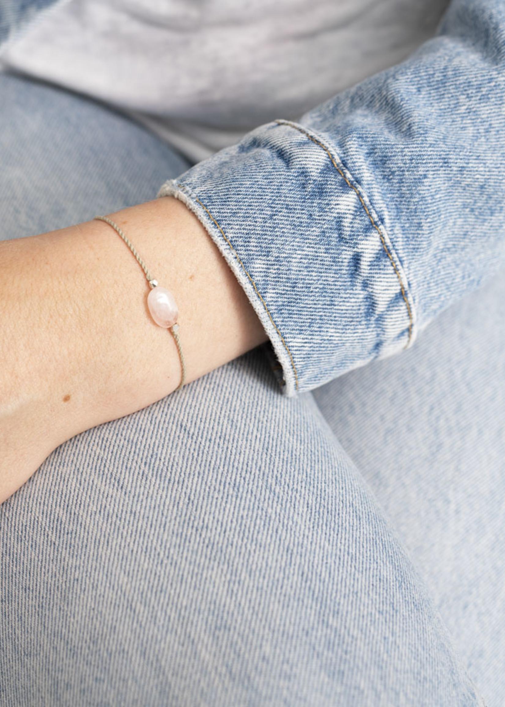 Gemstone Card Rose Quartz Silver Bracelet