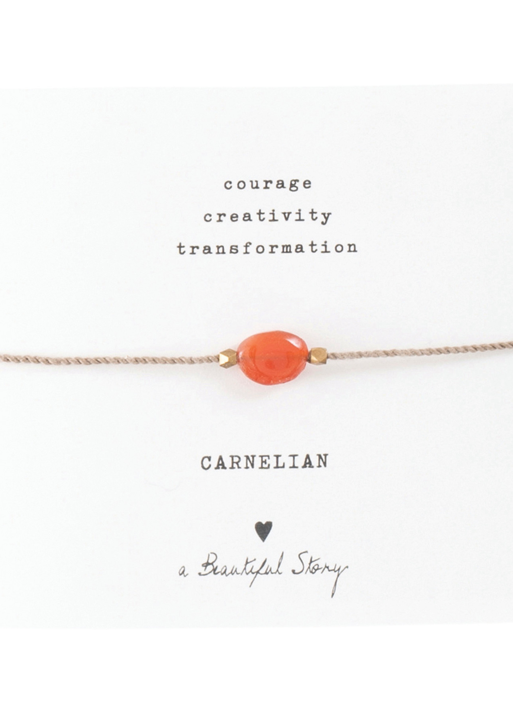 Gemstone Card Carnelian Gold Bracelet