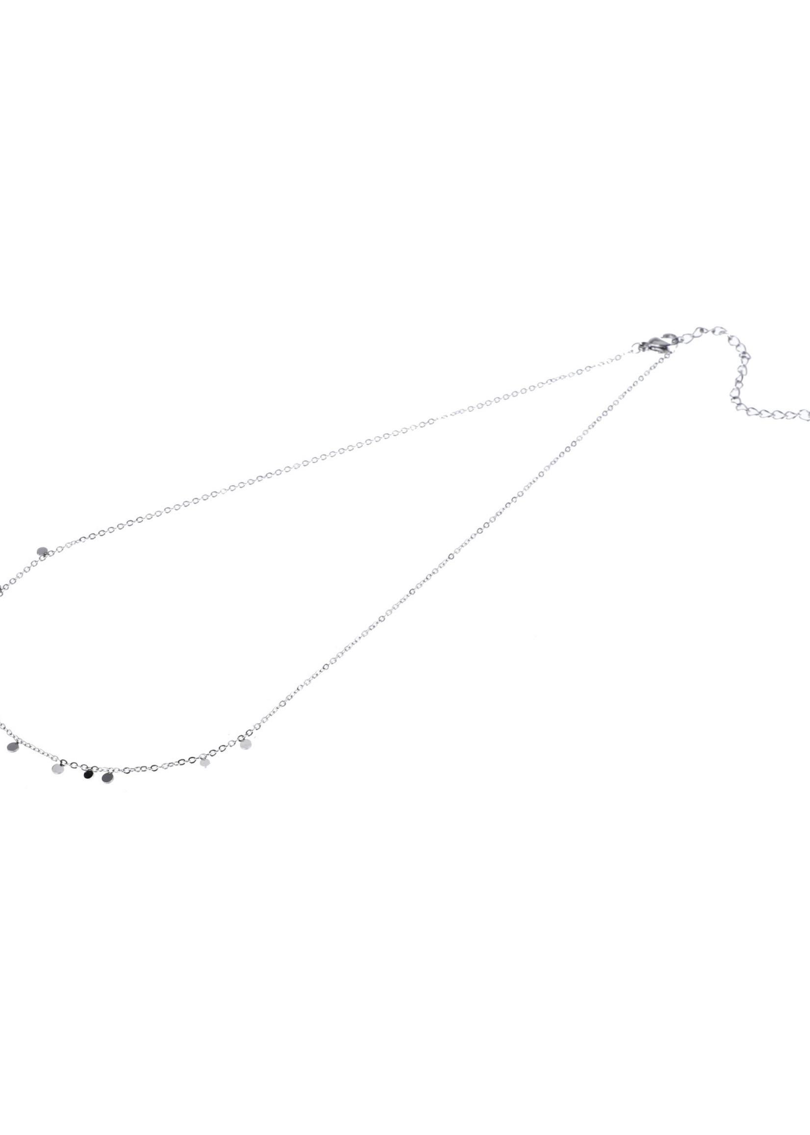 Ketting zilver kleine rondjes N9869-1