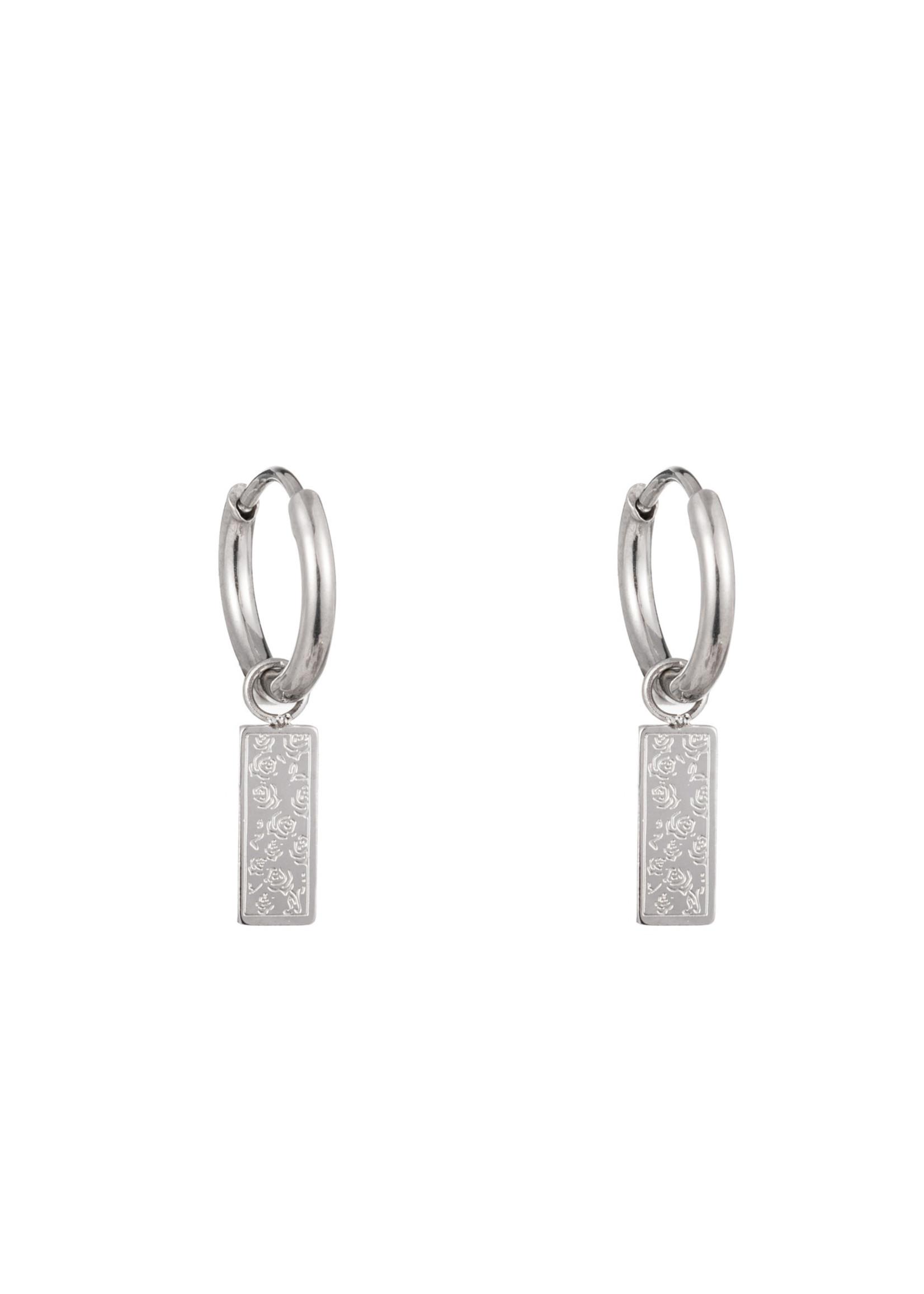 Oorbel zilver roosjes E1349-2