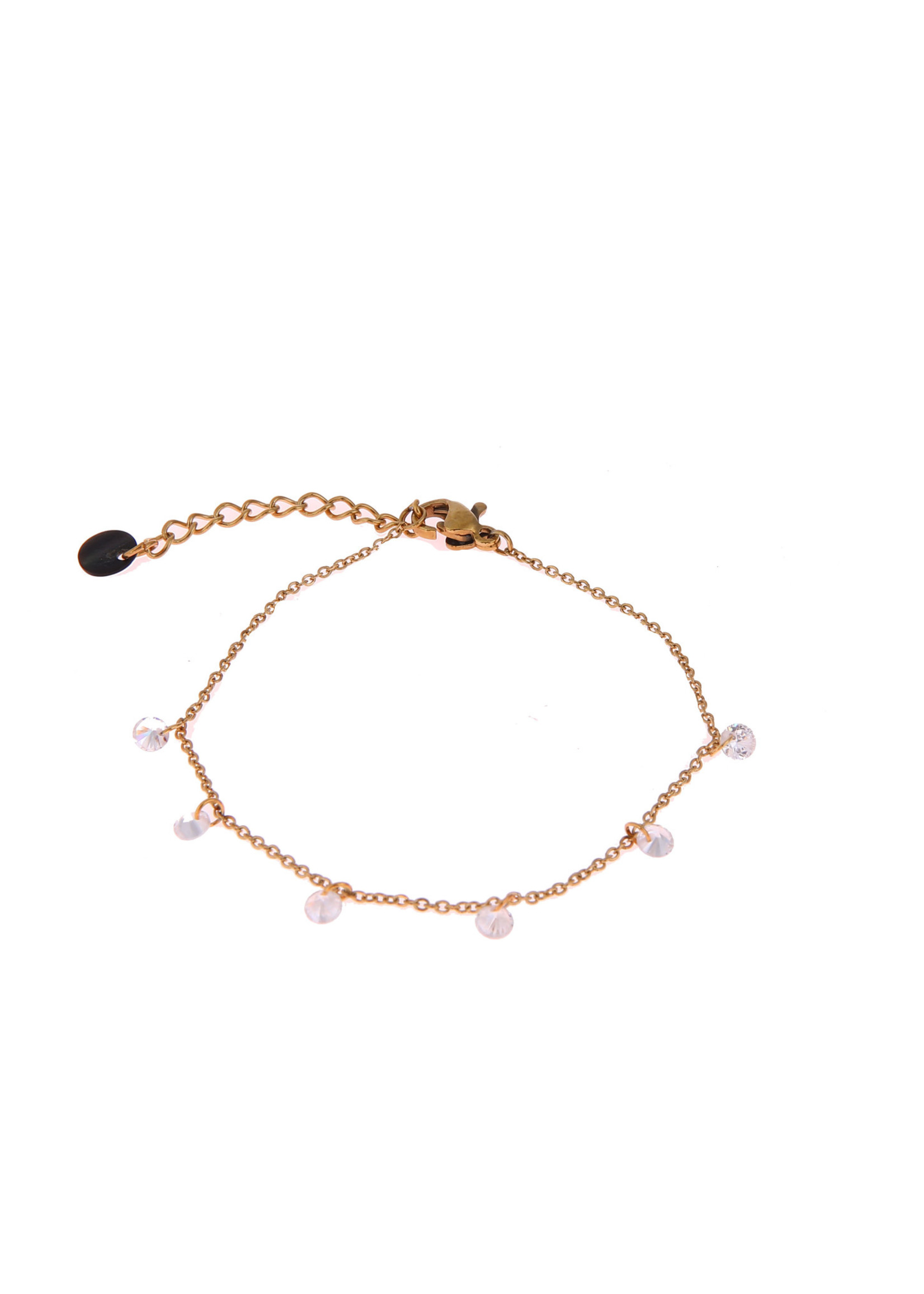Armband goud met crystal steentjes B0878-2