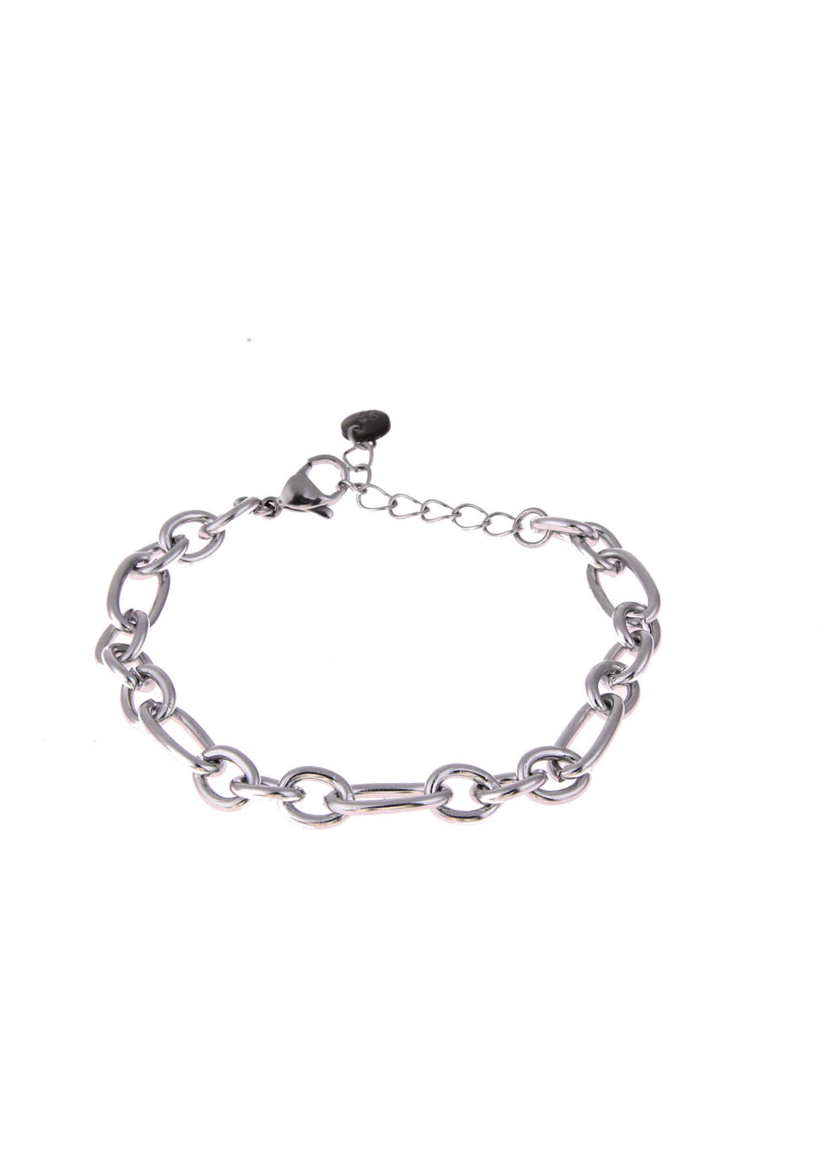 Armband zilver grove schakel B0885-1