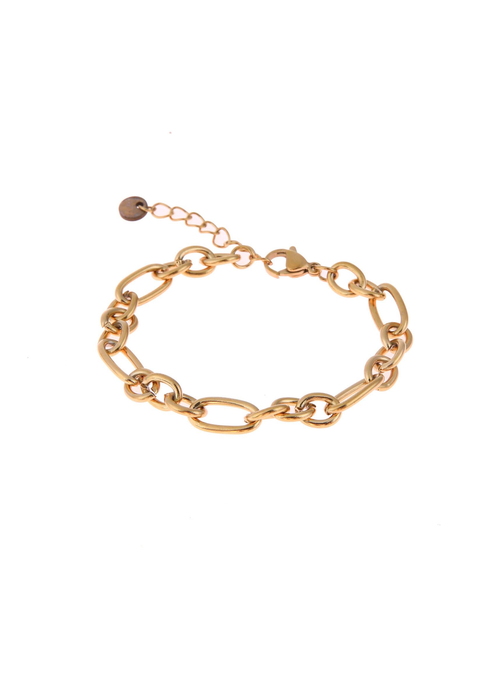 Armband goud grove schakel B0885-2