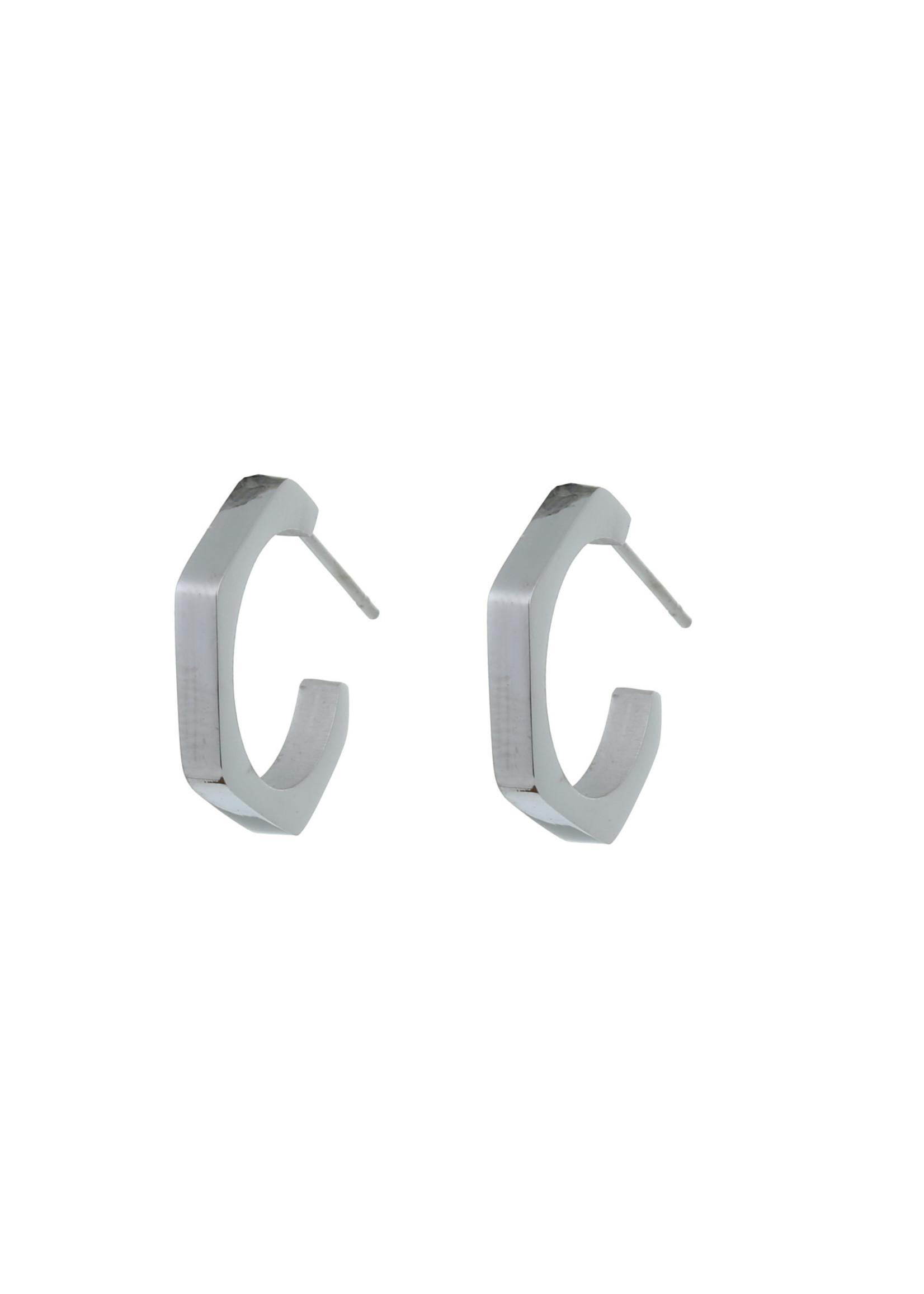Oorbel zilver creool E0755-1