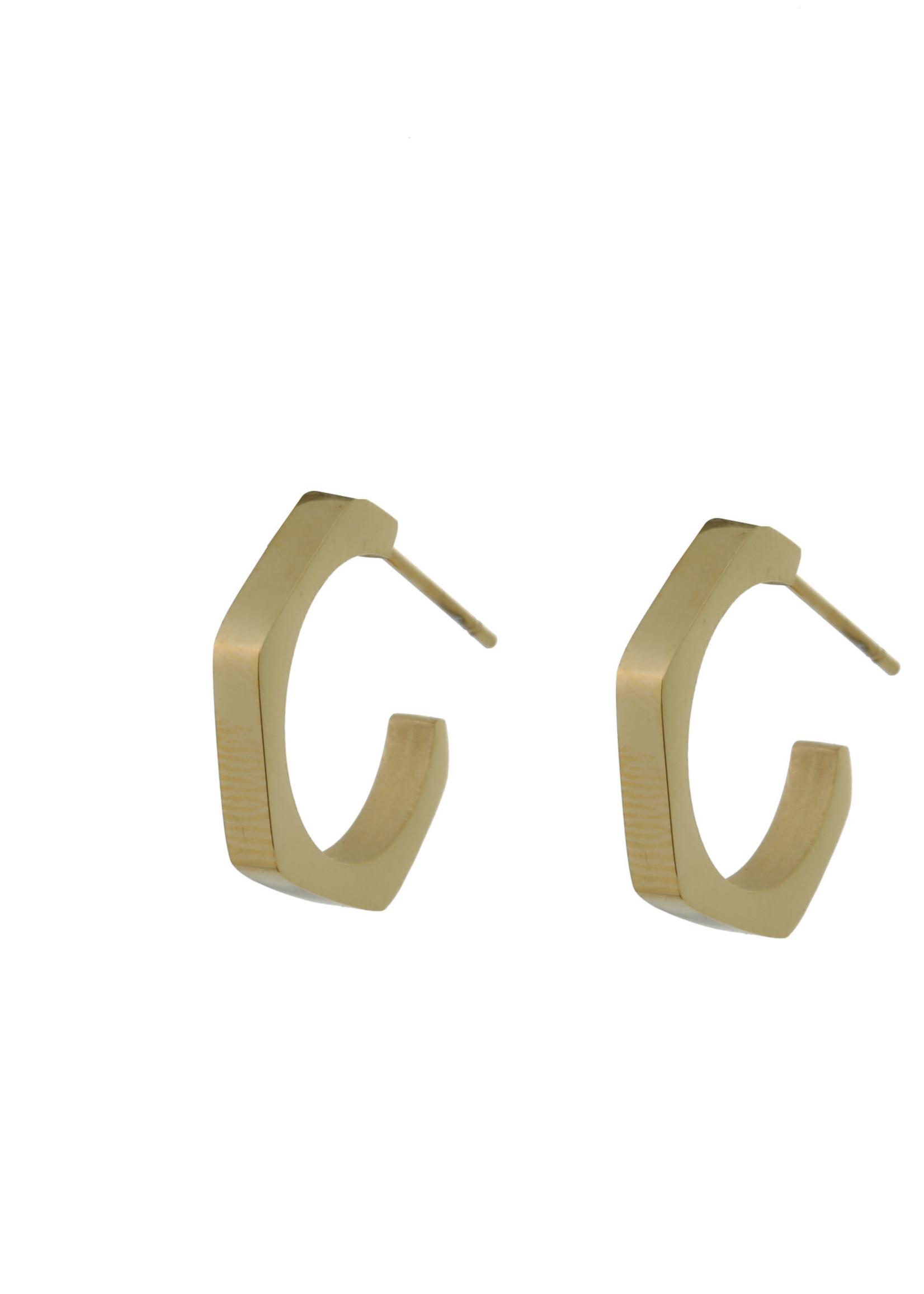 Oorbel goud creool E0755-2