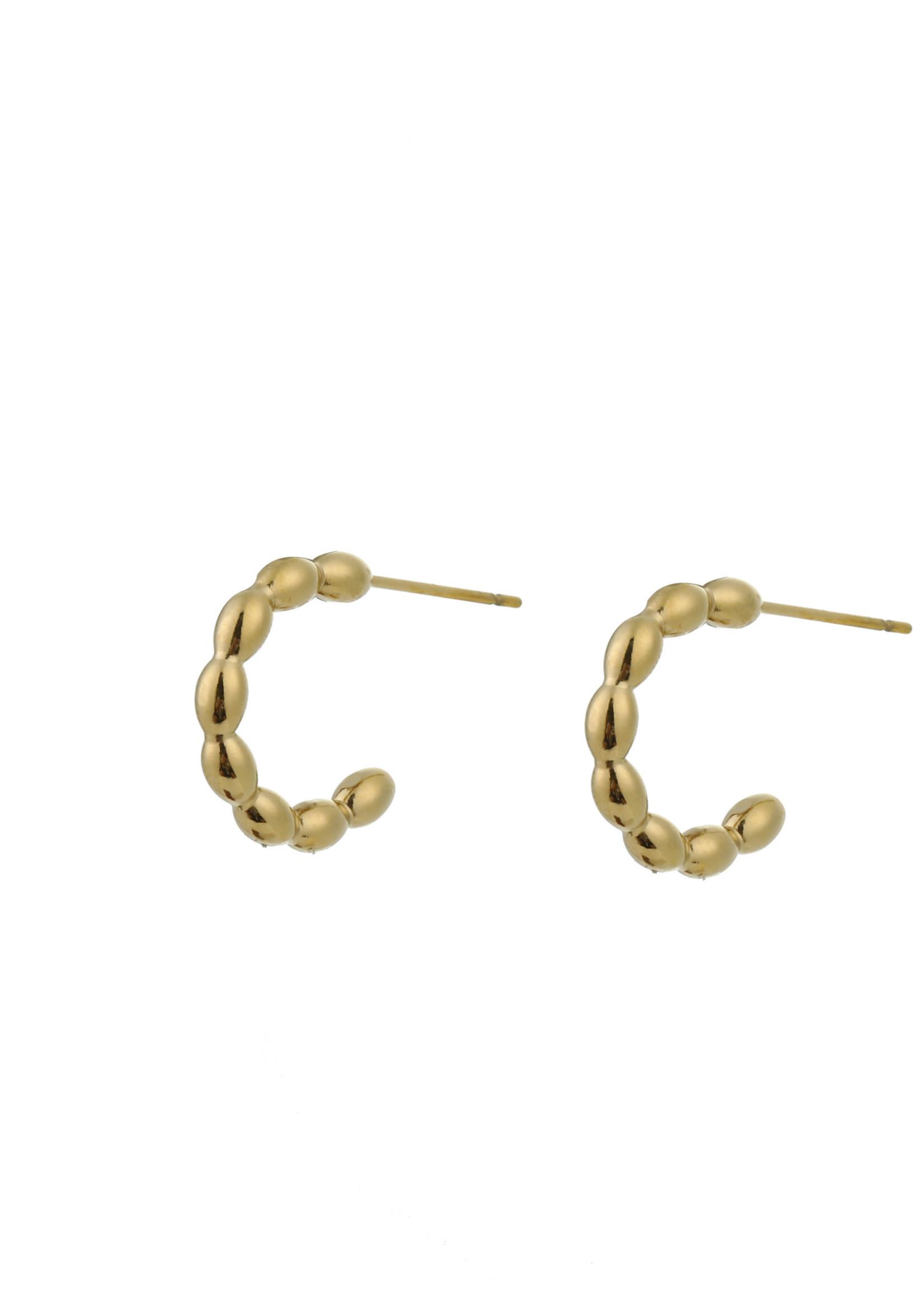 Oorbel goud creool E0795-2
