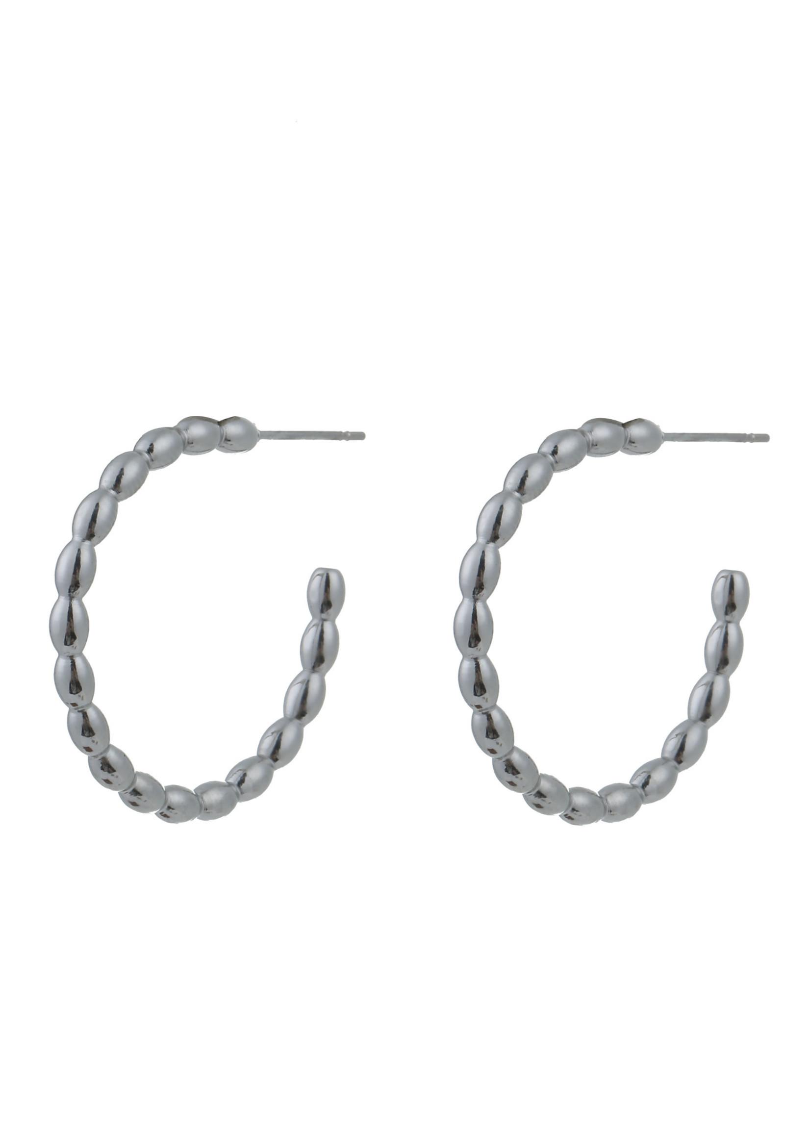 Oorbel zilver creool E0796-1
