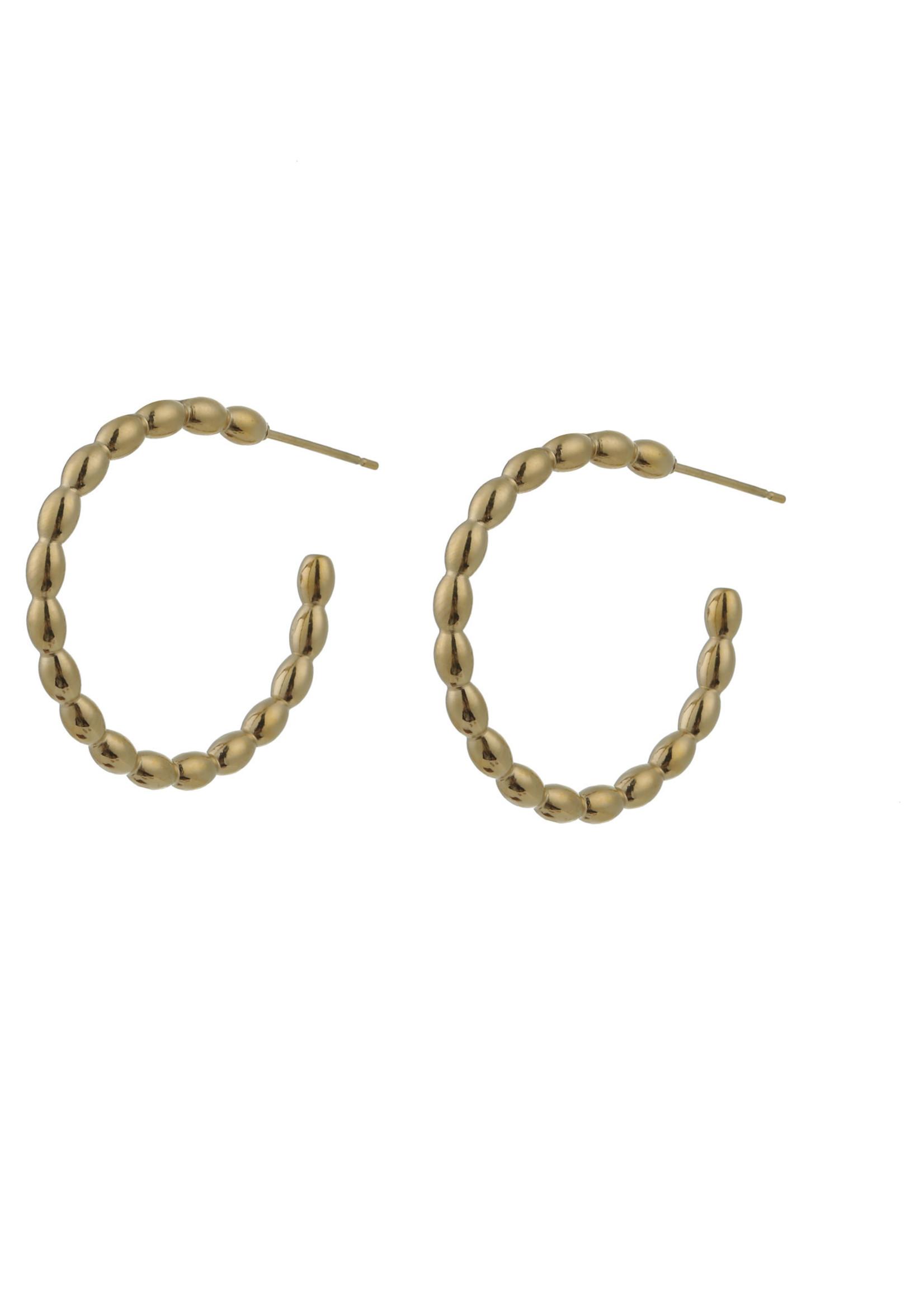 Oorbel goud creool E0796-2