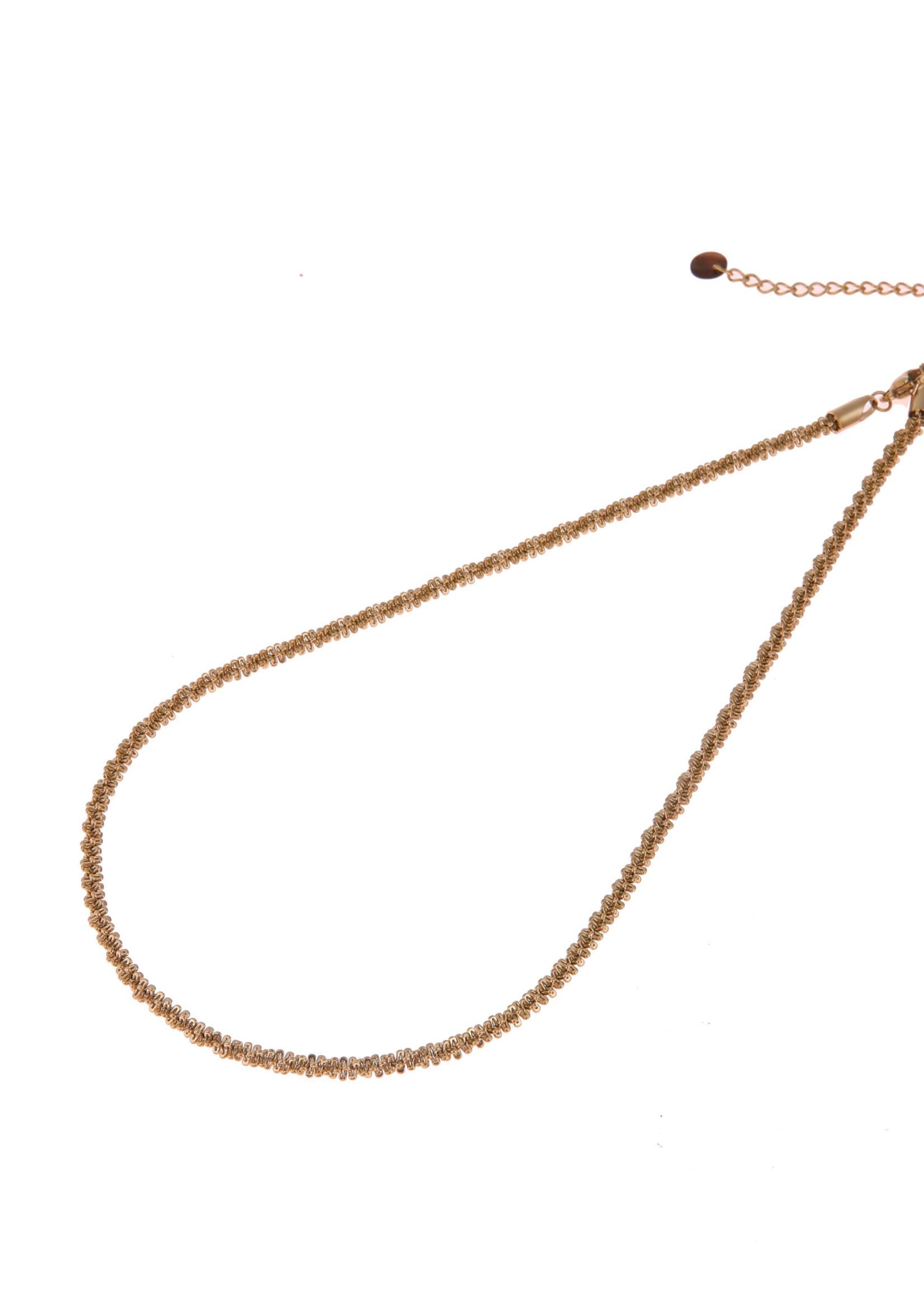 Ketting goud gedraaid N0760-2