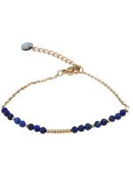 Armband goud met blauwe steentjes B0907-1