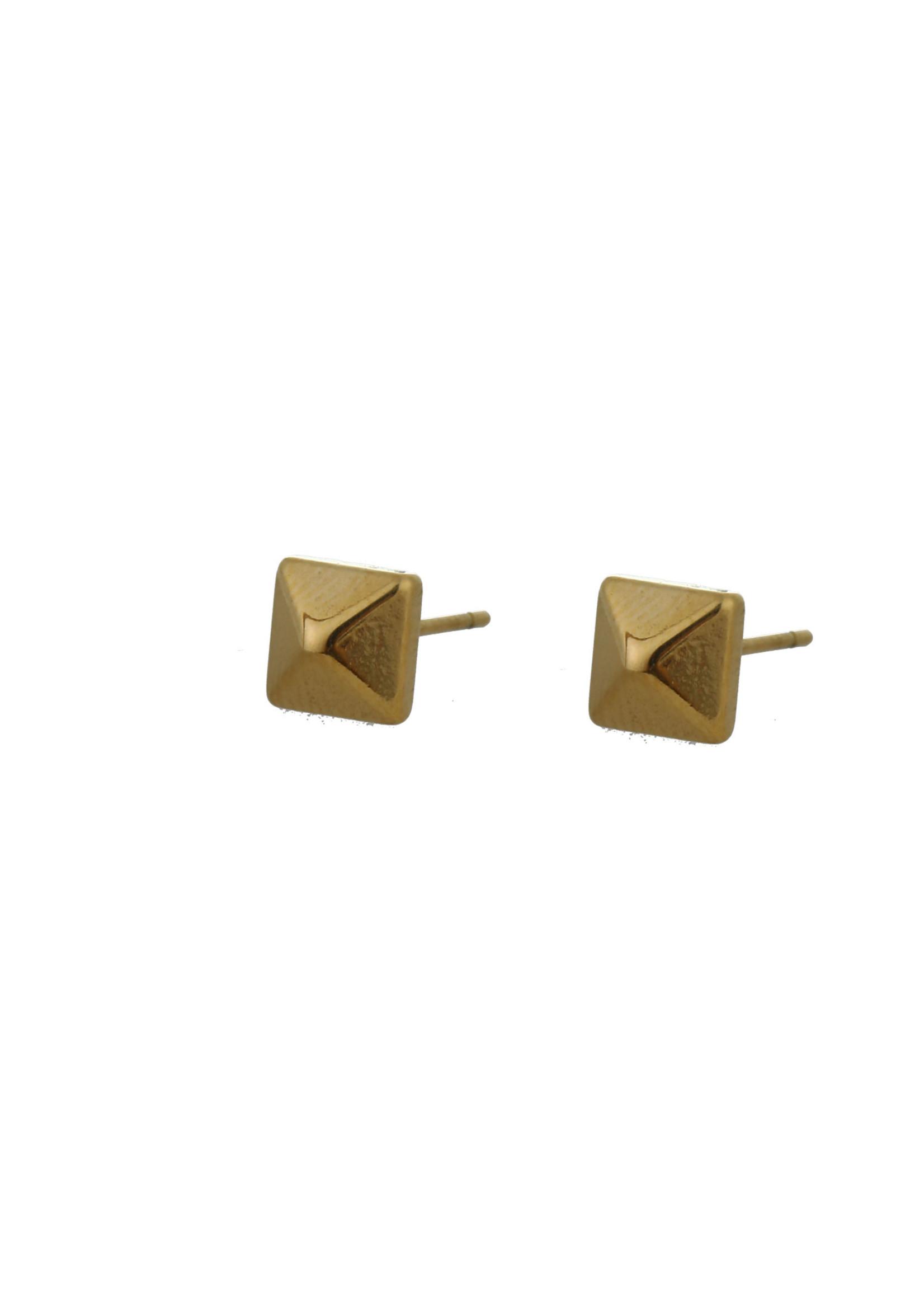 Oorbel goud grote diamant E0900-2
