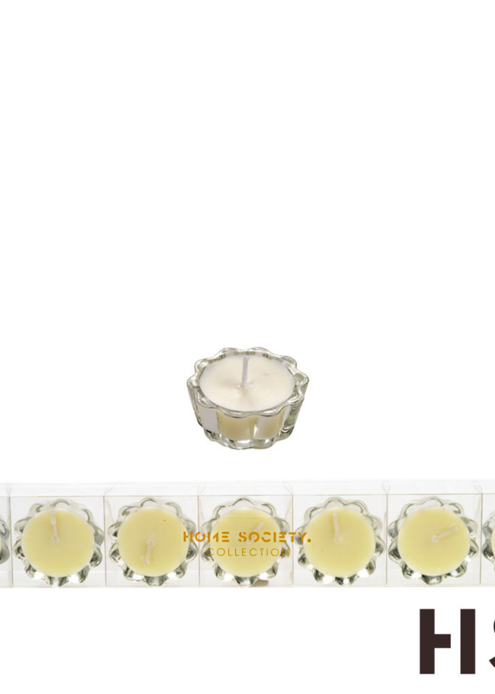 Flower Votive Candle WH
