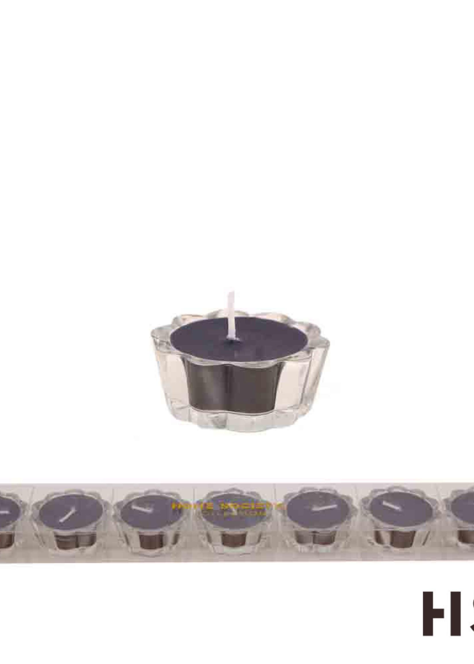 Flower Votive Candle BK