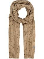 ZUSSS sjaal met twijgenprint kaki