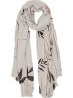 ZUSSS fijne sjaal met bladprint
