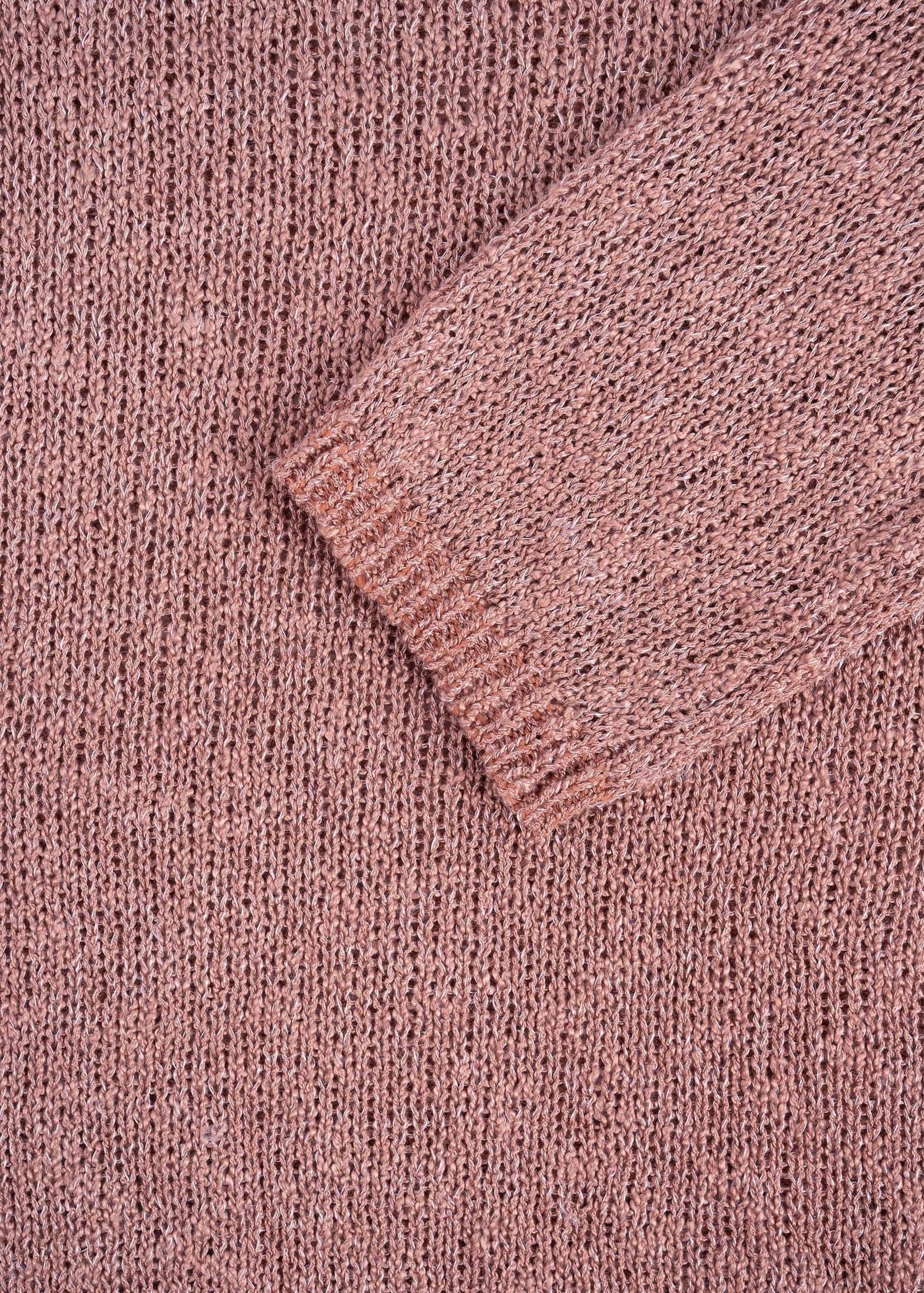 ZUSSS luchtig gebreide trui rouge