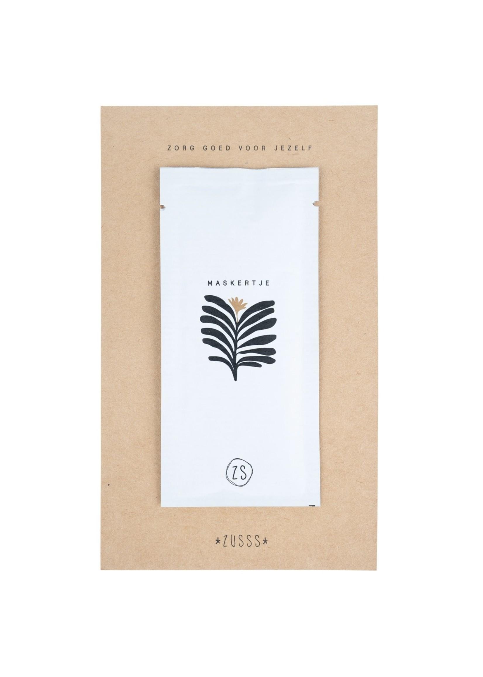 ZUSSS gezichtsmasker blad 10ml wit