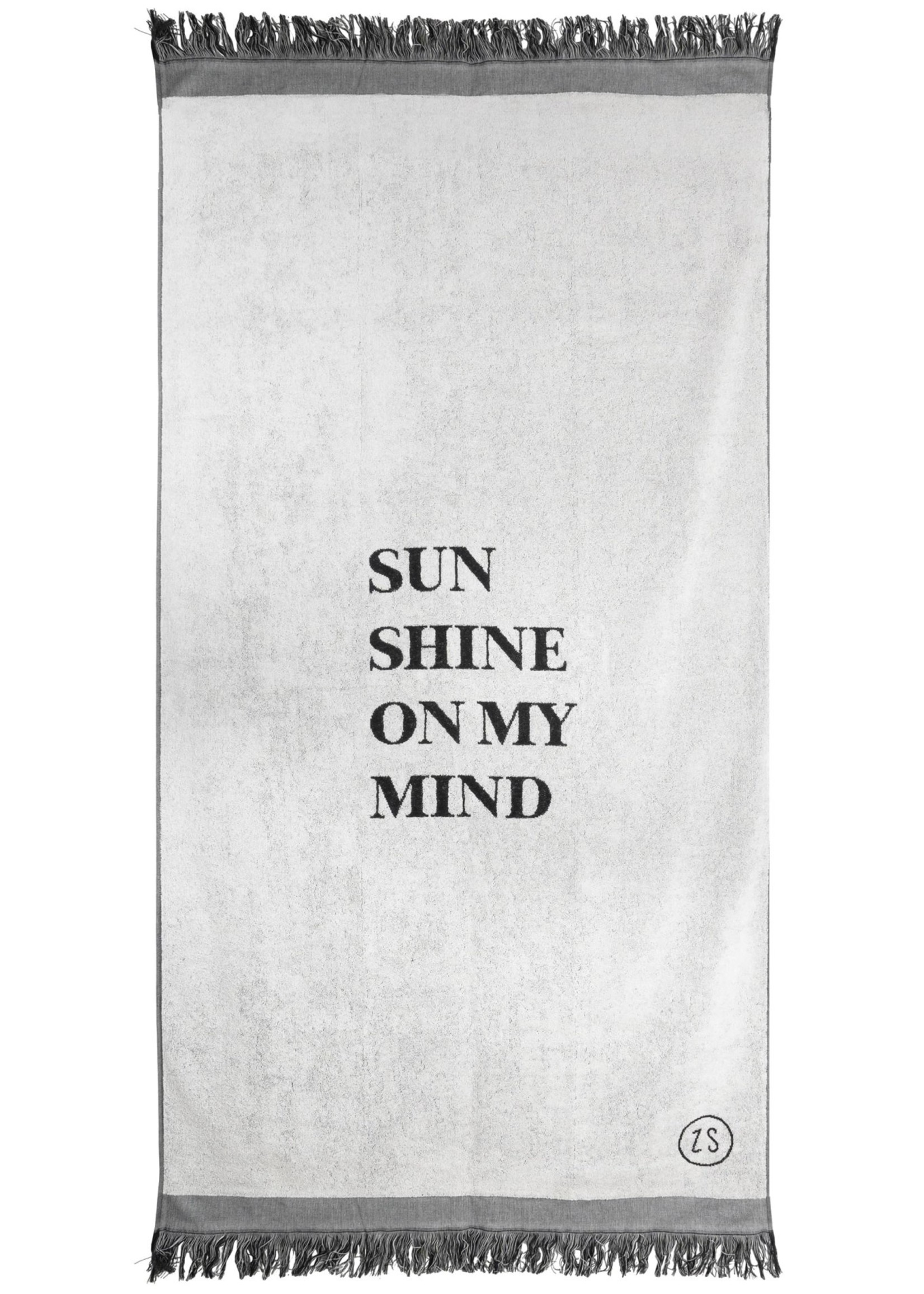 ZUSSS strandlaken sunshine 90x200cm grijs
