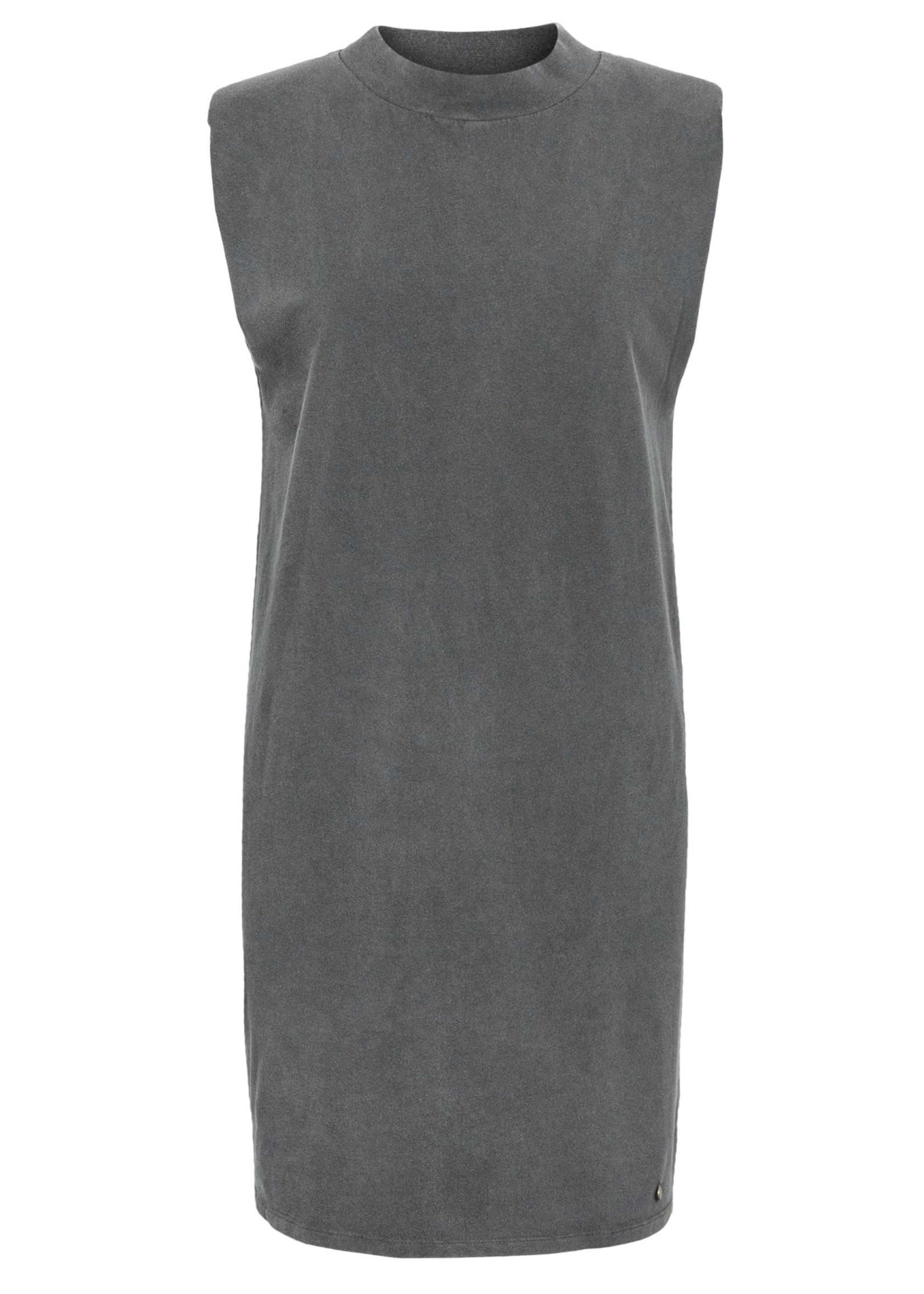 ZUSSS basic jurk met schoudervulling zwart