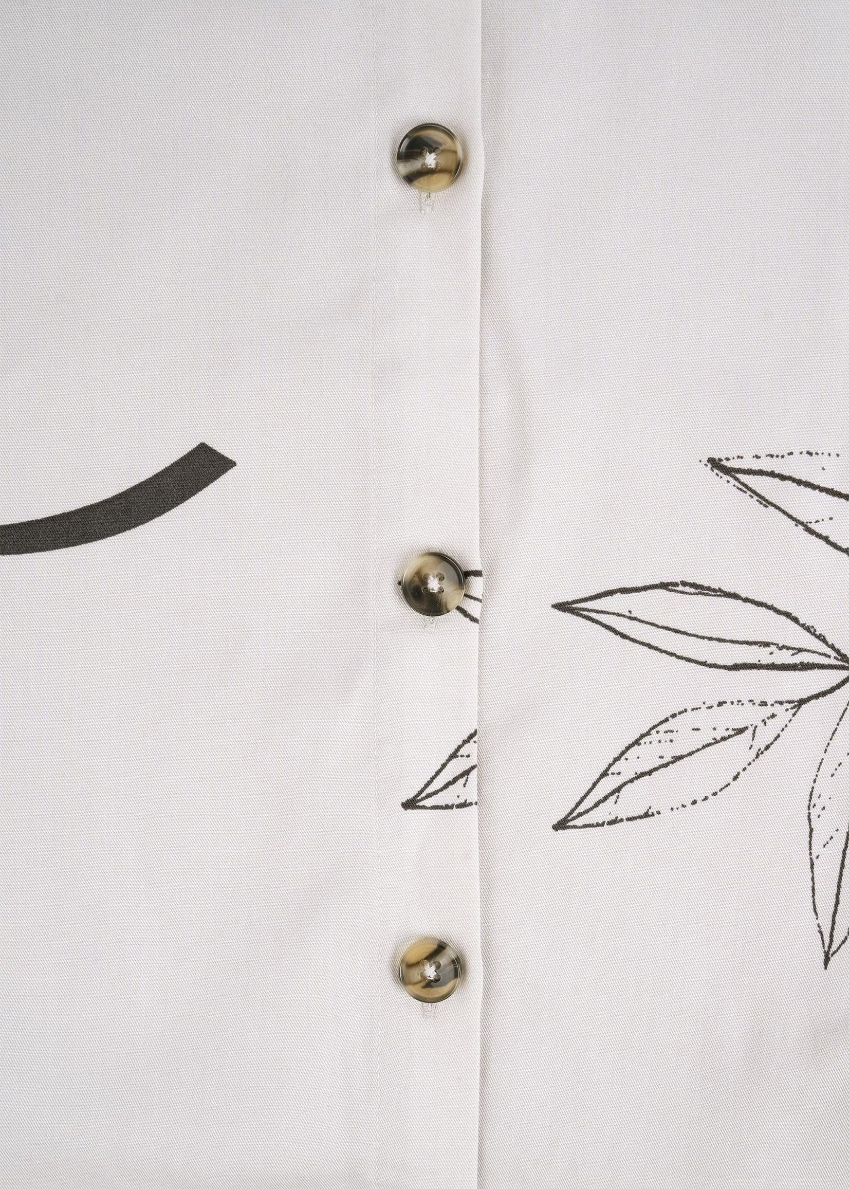 ZUSSS hippe rok met knopen bladprint
