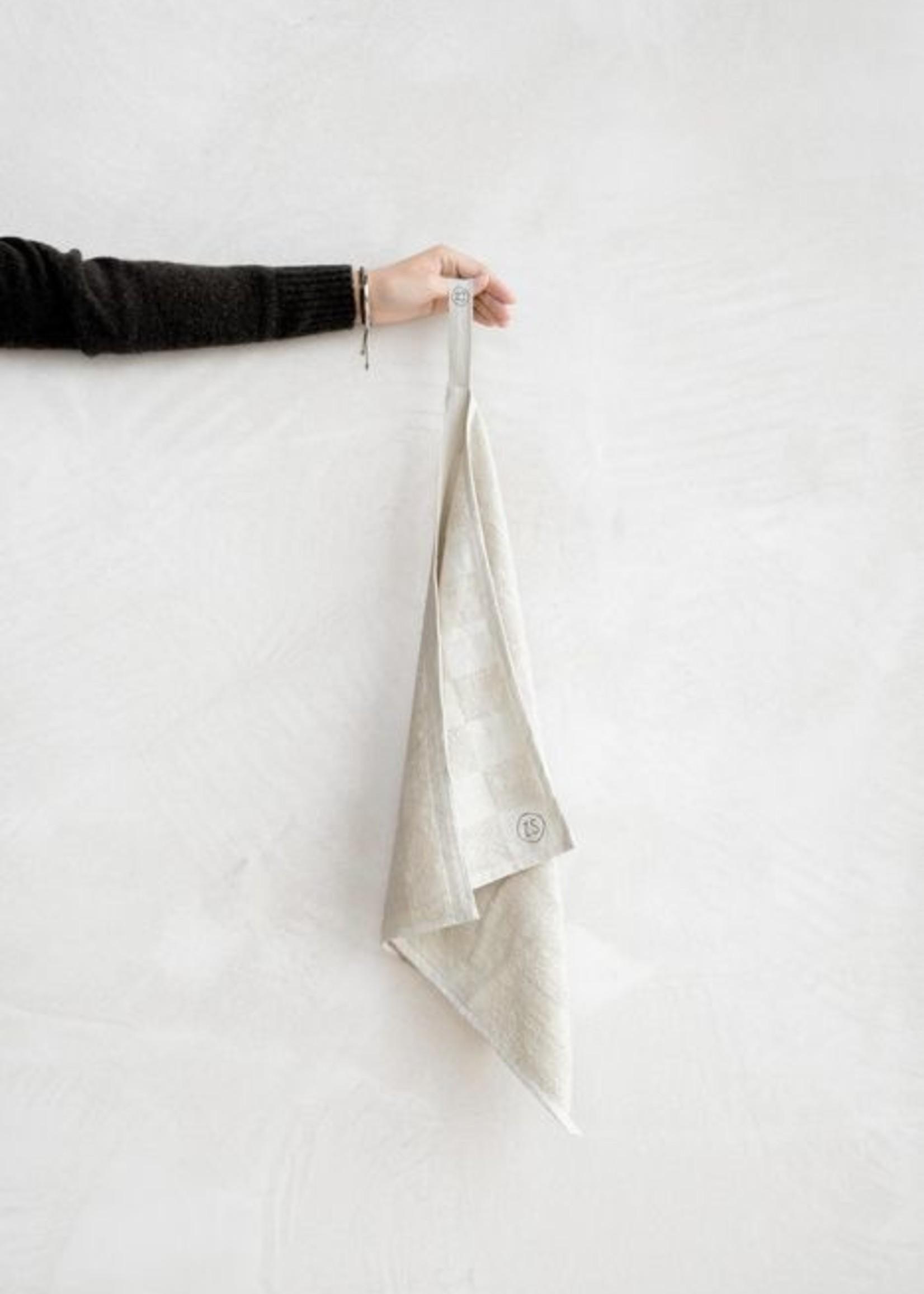 ZUSSS handdoek geblokt zand