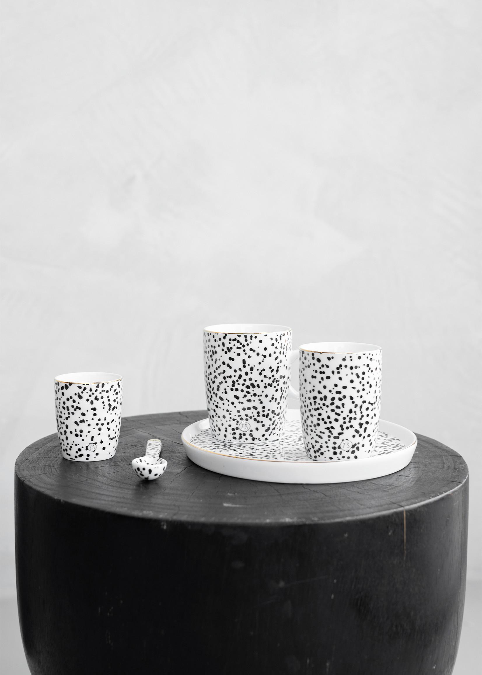 ZUSSS ontbijtbord spikkels/goud