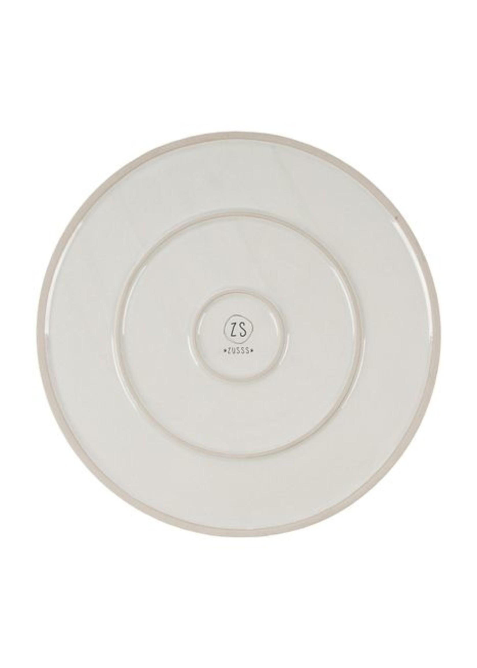 ZUSSS dinerbord aardewerk wit