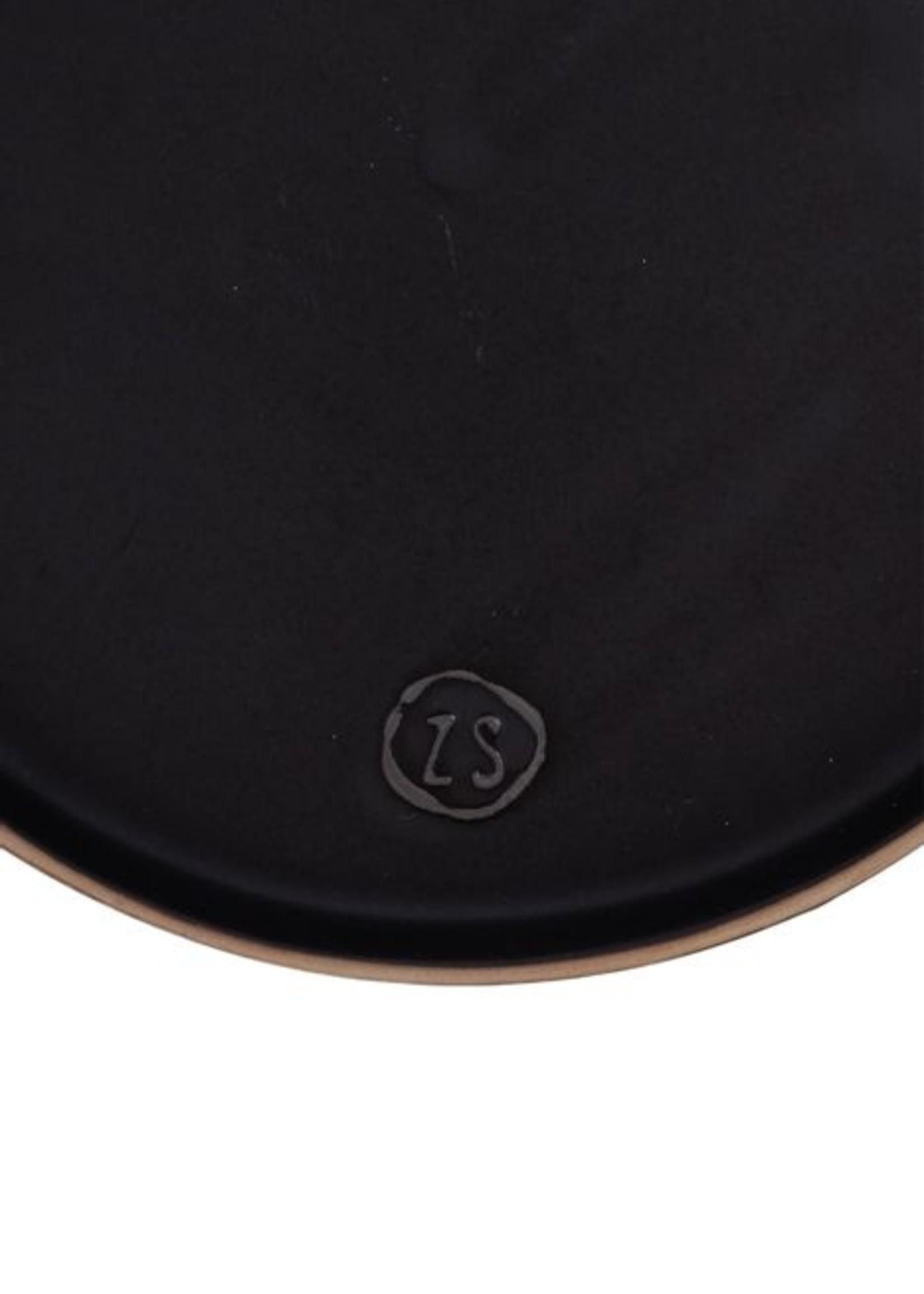 ZUSSS ontbijtbord aardewerk zwart