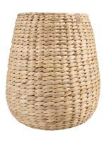 ZUSSS stoergevlochten mand waterhyacint 25x25cm naturel