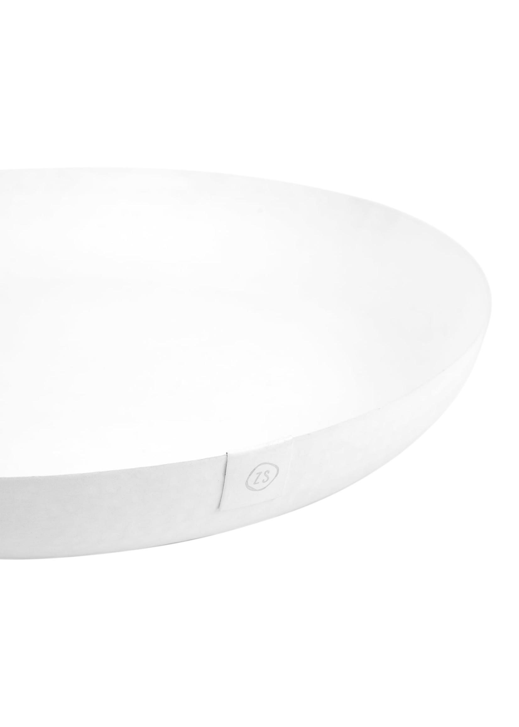 ZUSSS stylingbord metaal 30cm wit