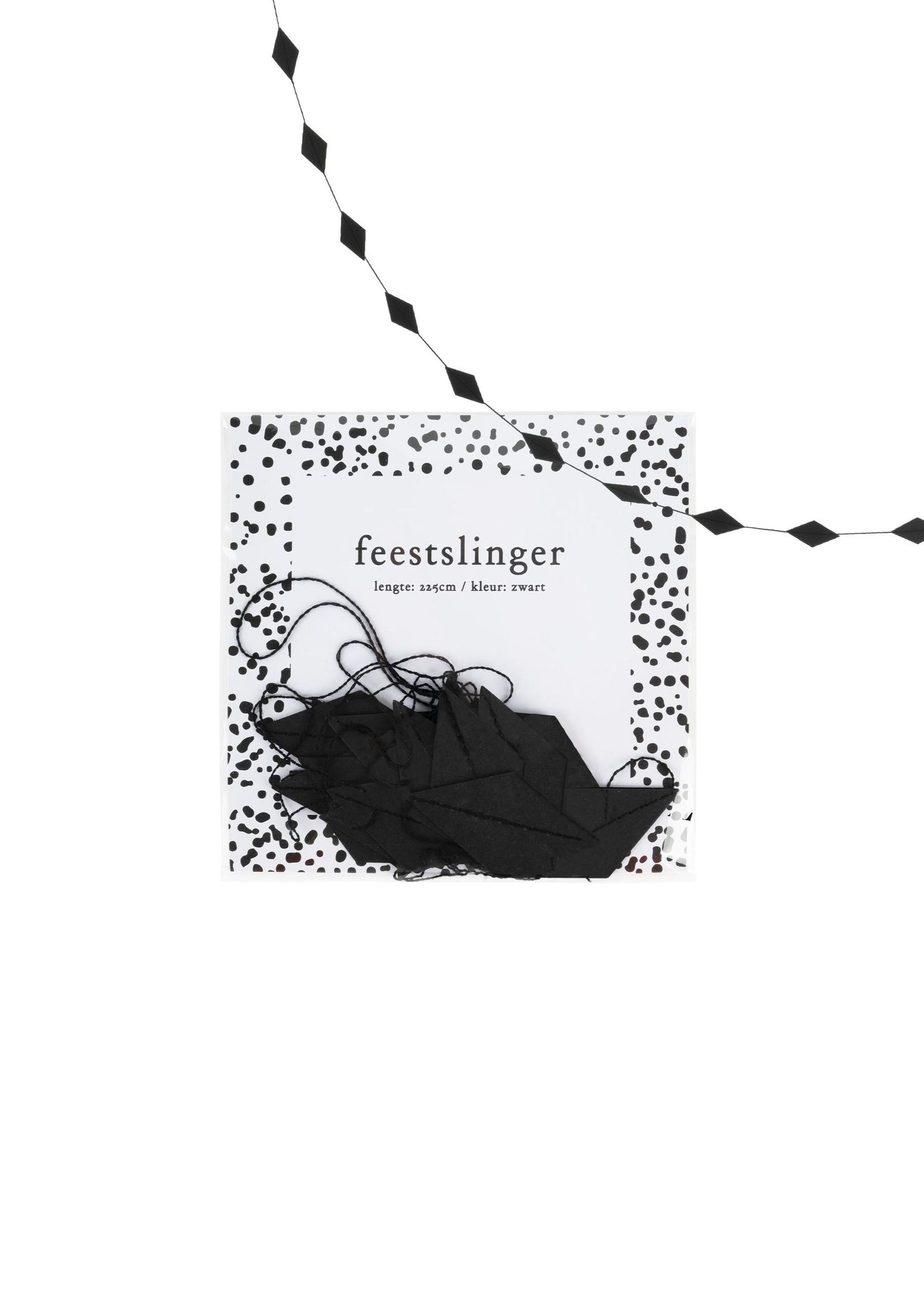 ZUSSS feestslinger ruit 225cm zwart