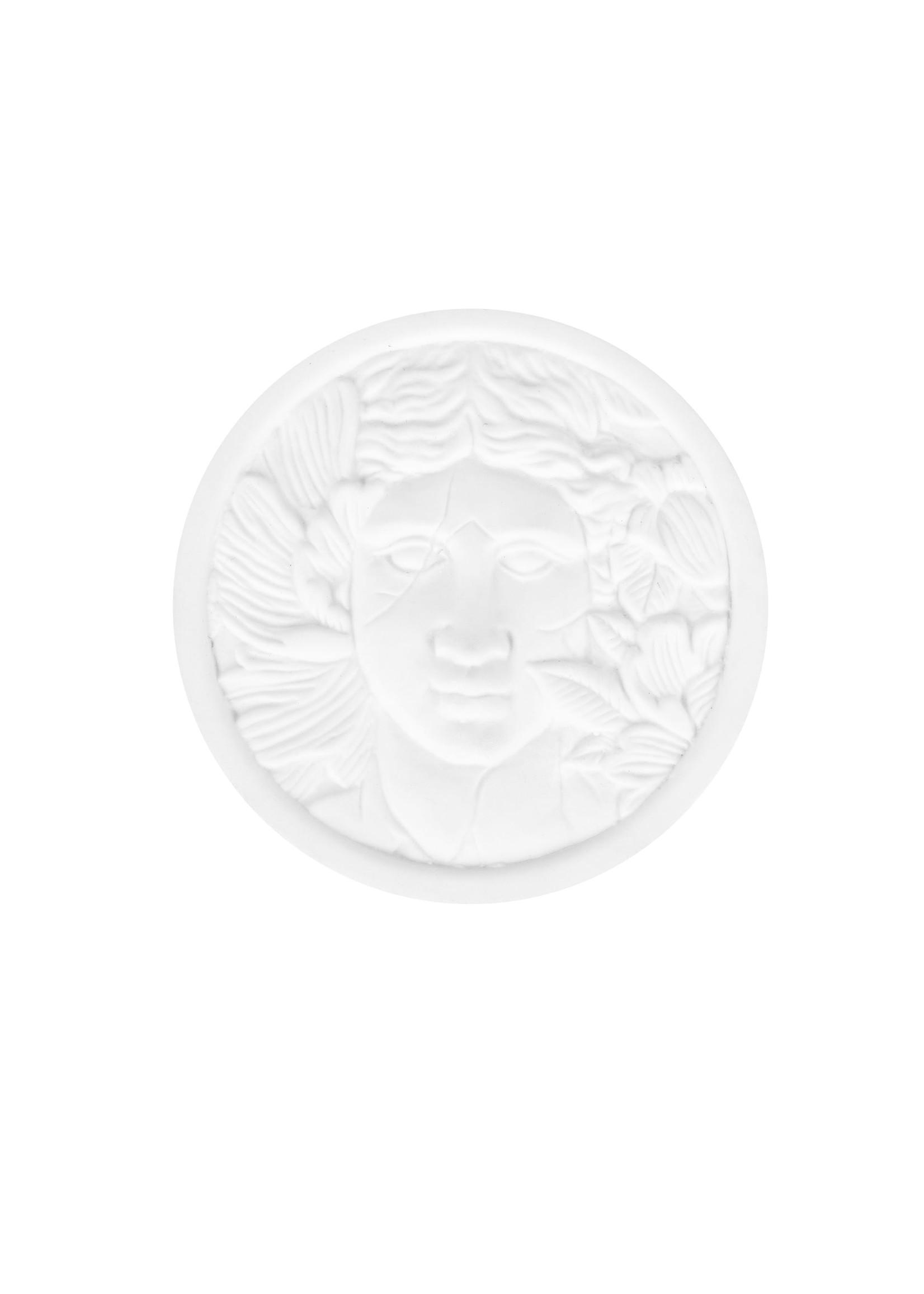 ZUSSS limited keramieken geurkaars met deksel hoofd vrouw