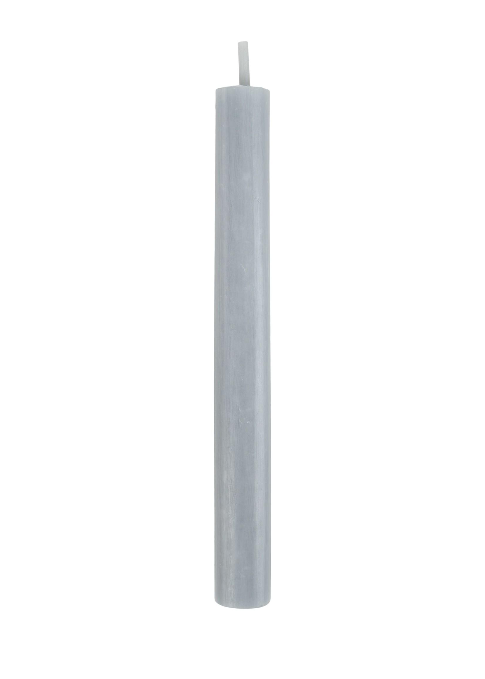 ZUSSS rustieke kaars 20cm grijs-blauw
