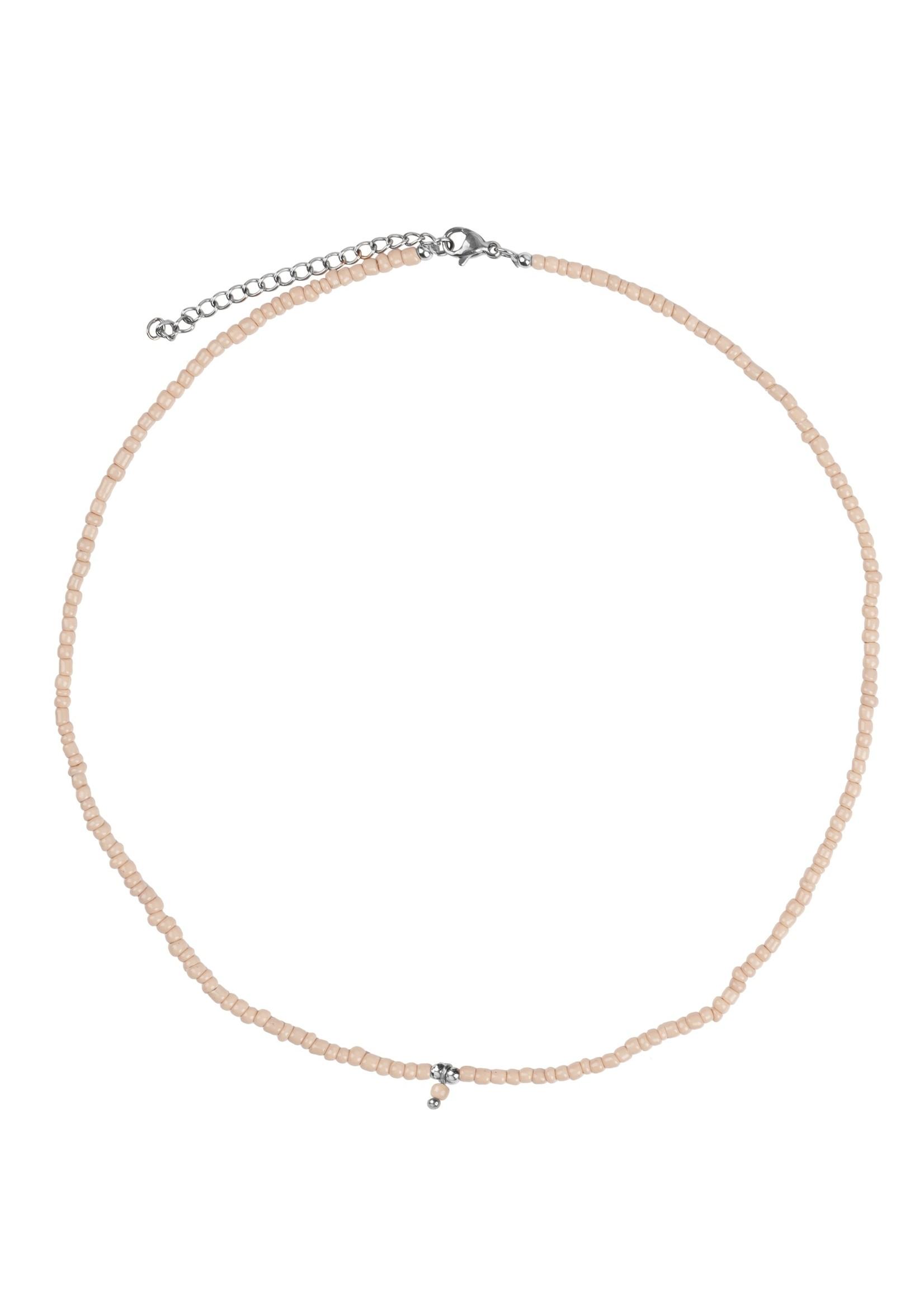ZUSSS ketting met kraaltjes zand/zilver